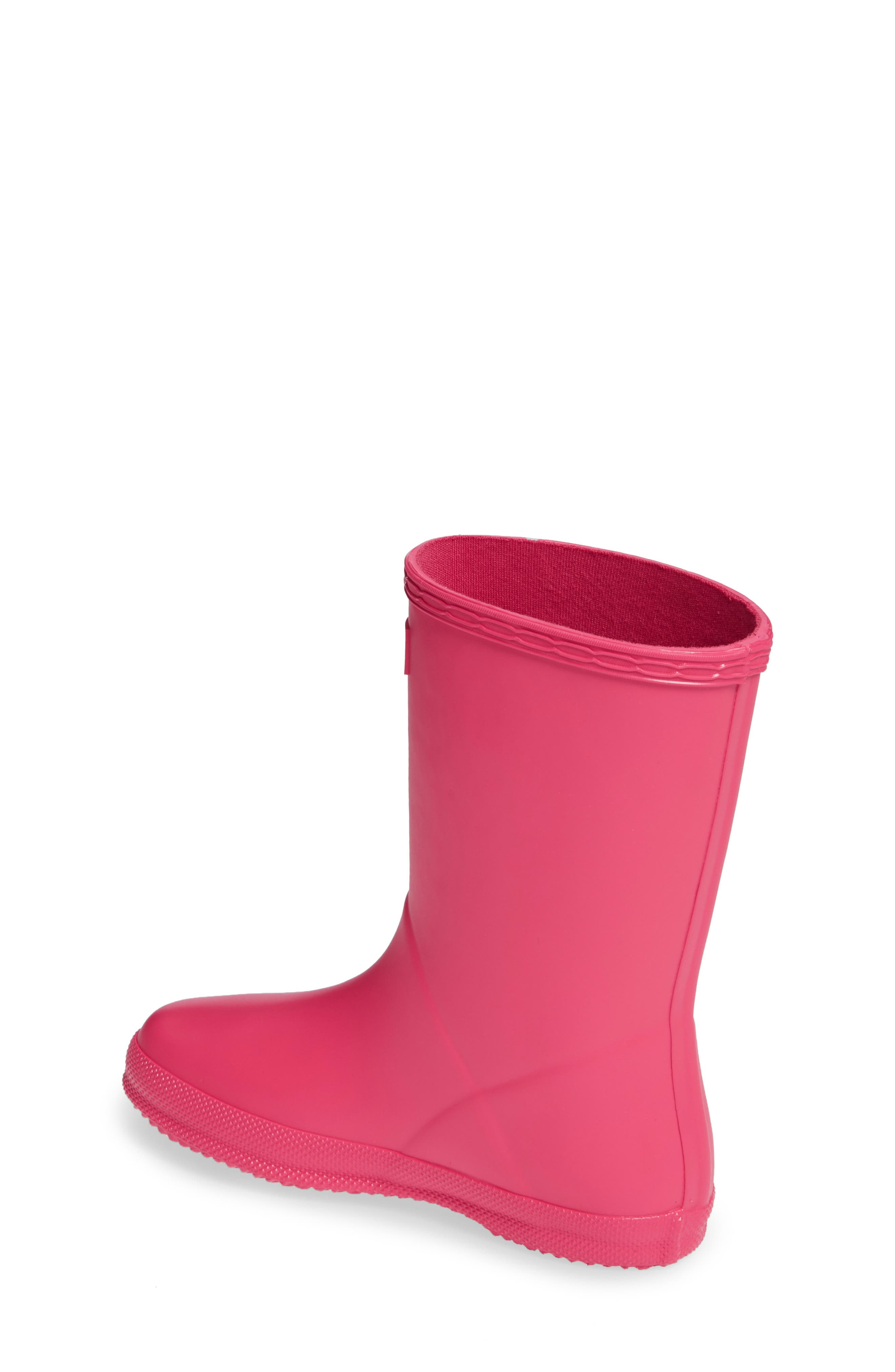 First Classic Waterproof Rain Boot,                             Alternate thumbnail 2, color,                             BRIGHT PINK