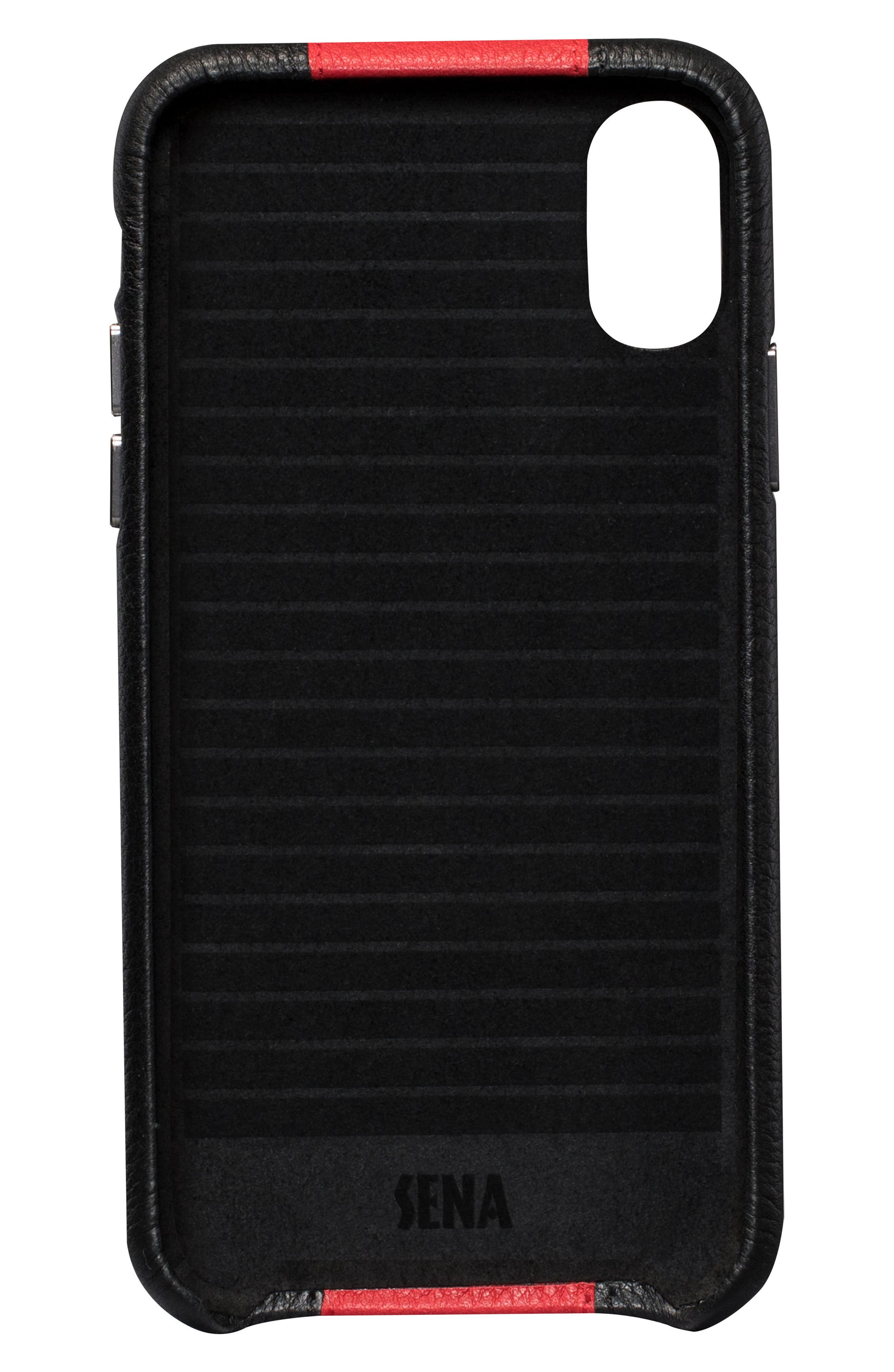 Racer iPhone X & Xs Case,                             Alternate thumbnail 2, color,                             BLACK/ RED