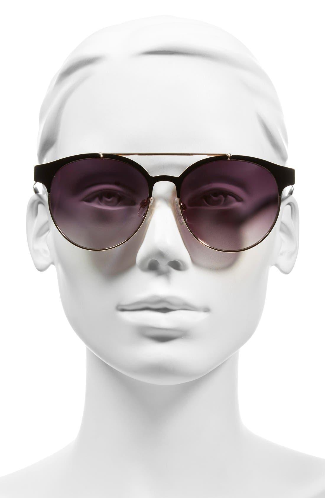BP.,                             55mm Round Sunglasses,                             Alternate thumbnail 2, color,                             001