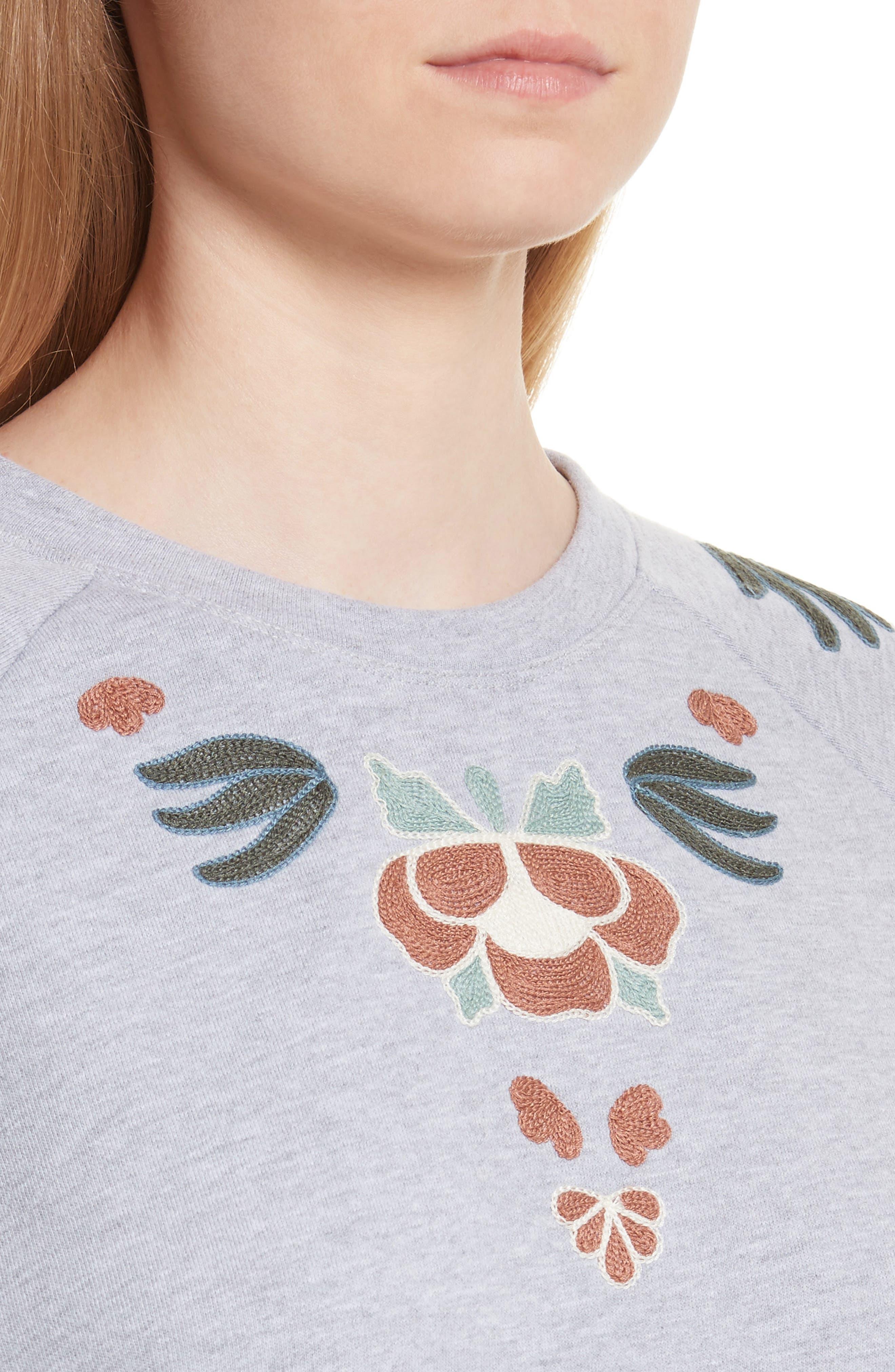 Jennings Embroidered Sweatshirt,                             Alternate thumbnail 4, color,                             021