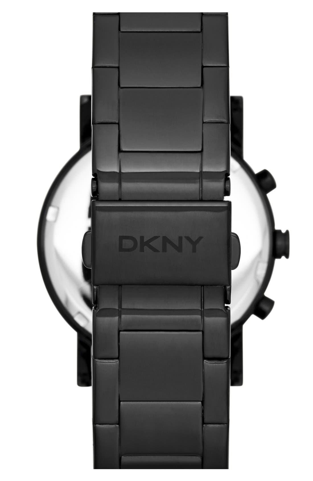 DKNY,                             Mirror Dial Chronograph Bracelet Watch, 38mm,                             Alternate thumbnail 3, color,                             001