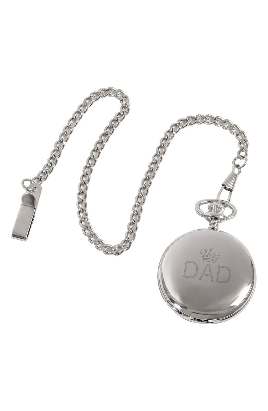 'Dad' Pocket Watch, 44mm,                             Alternate thumbnail 3, color,                             040