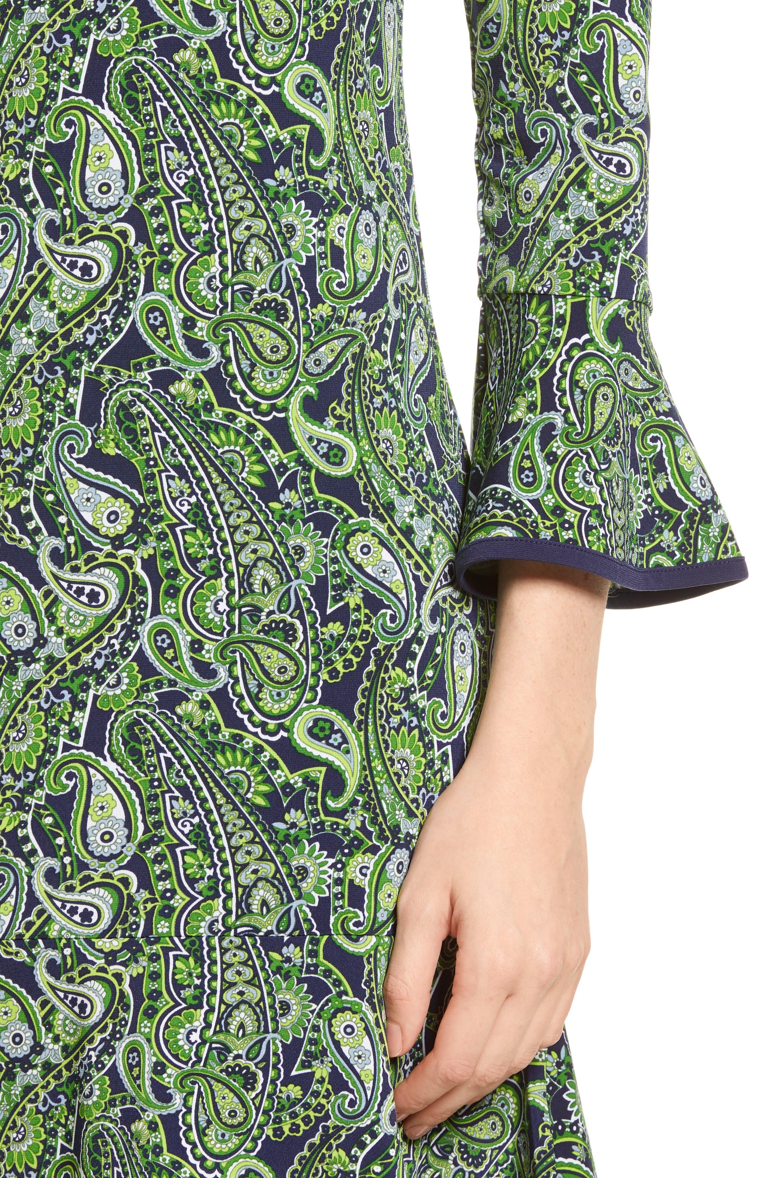 Paisley Flounce Dress,                             Alternate thumbnail 4, color,                             362