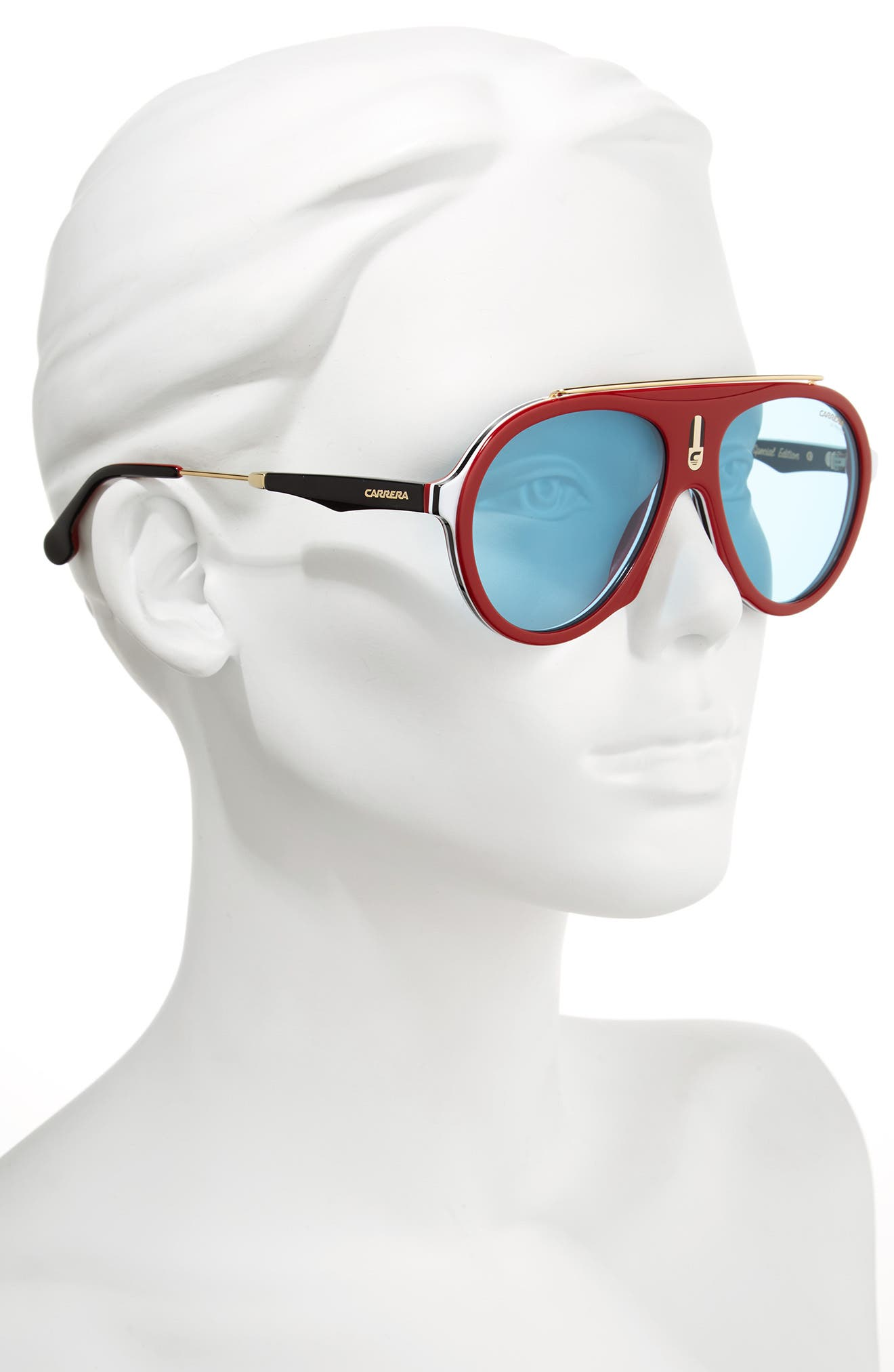Carrera Flag 57mm Mirrored Pilot Sunglasses,                             Alternate thumbnail 12, color,