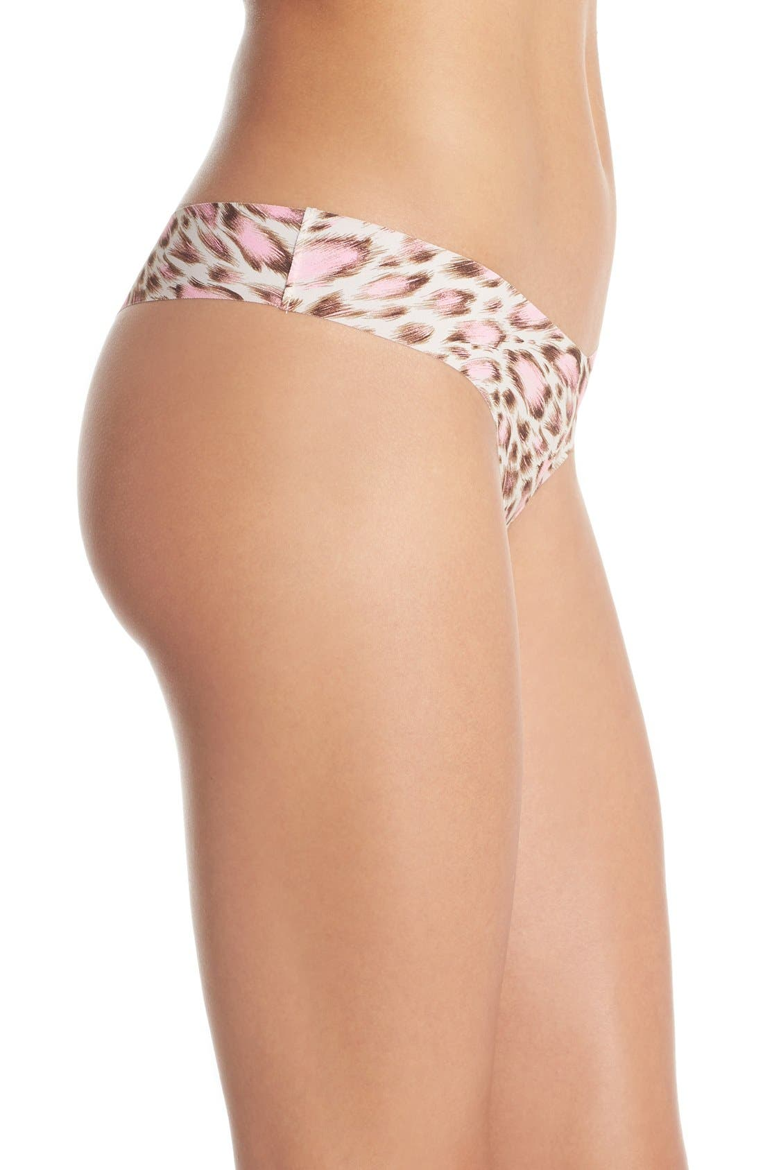 Print Microfiber Thong,                             Alternate thumbnail 256, color,