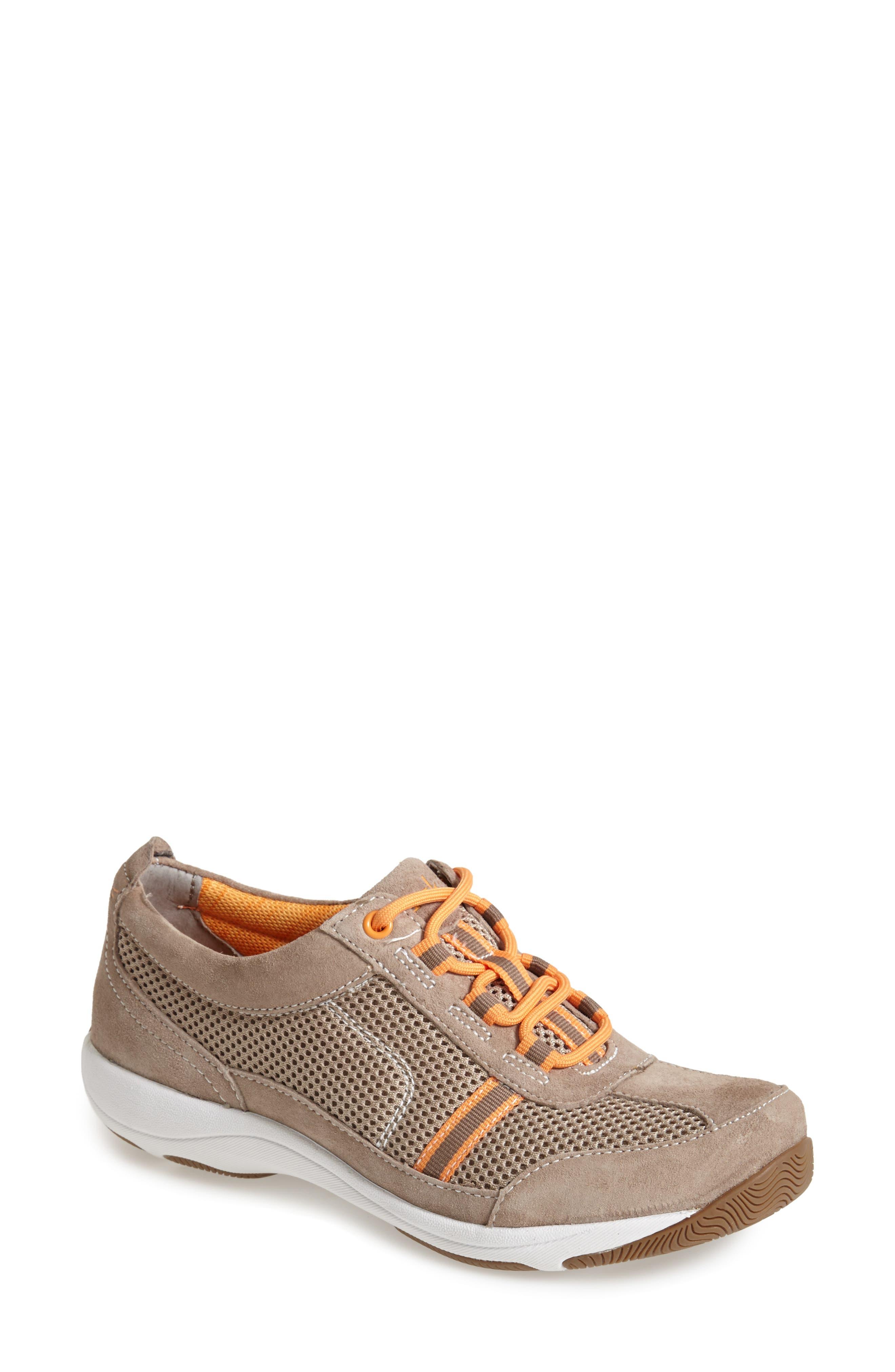 'Helen' Suede & Mesh Sneaker,                             Alternate thumbnail 54, color,