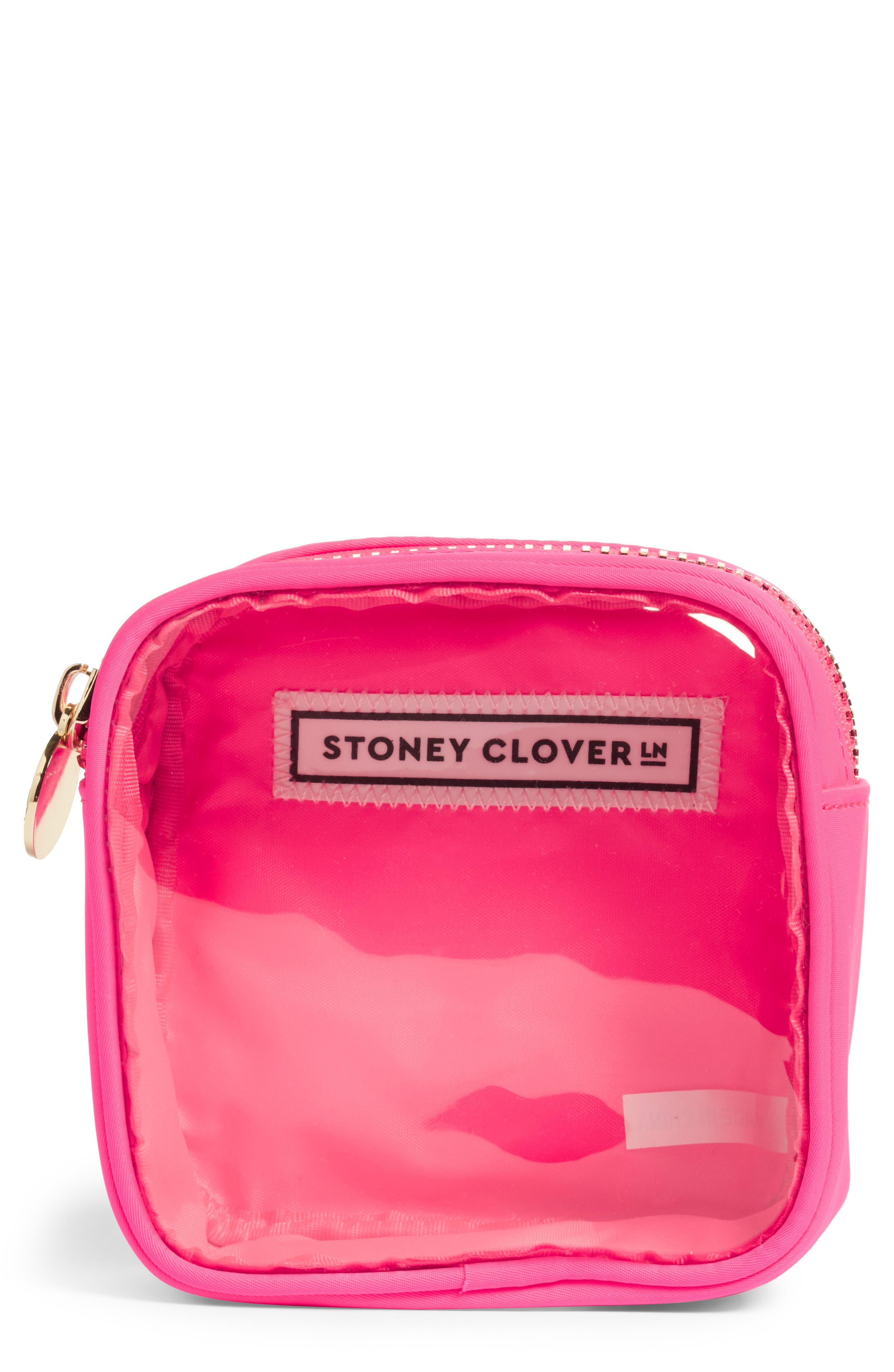 STONEY CLOVER LANE Mini Pouch in Neon Pink