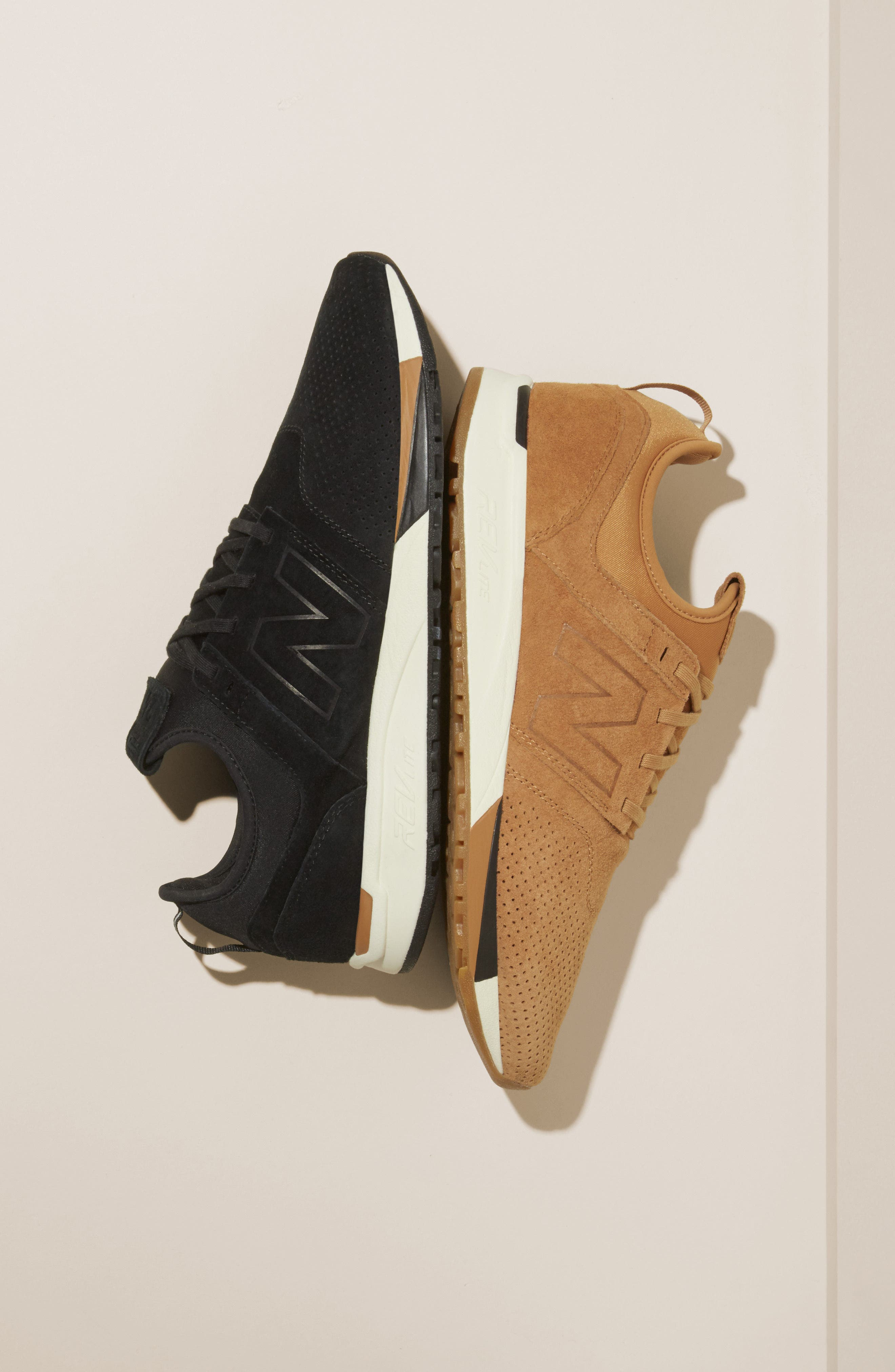 247 Luxe Sneaker,                             Alternate thumbnail 7, color,                             BLACK