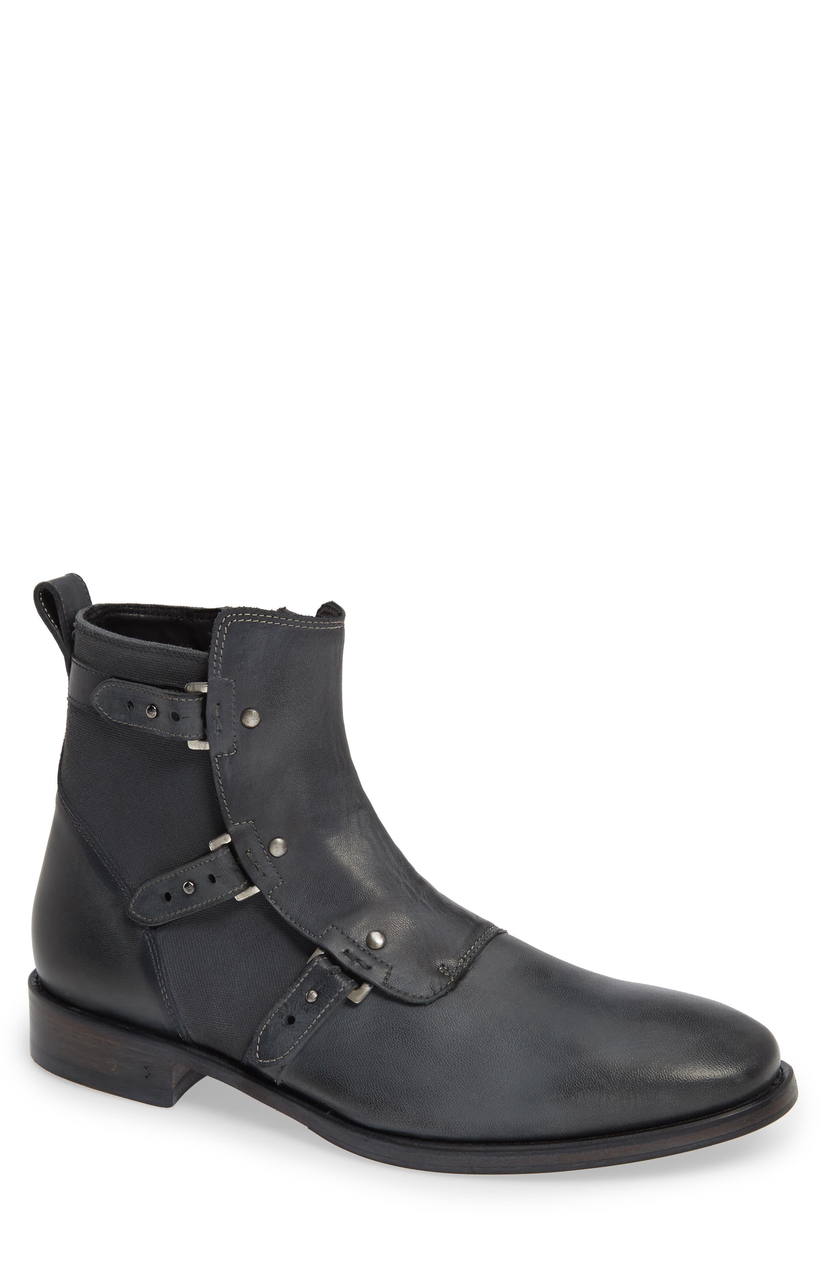 John Varvatos Collection Fleetwood Zip Boot- Black