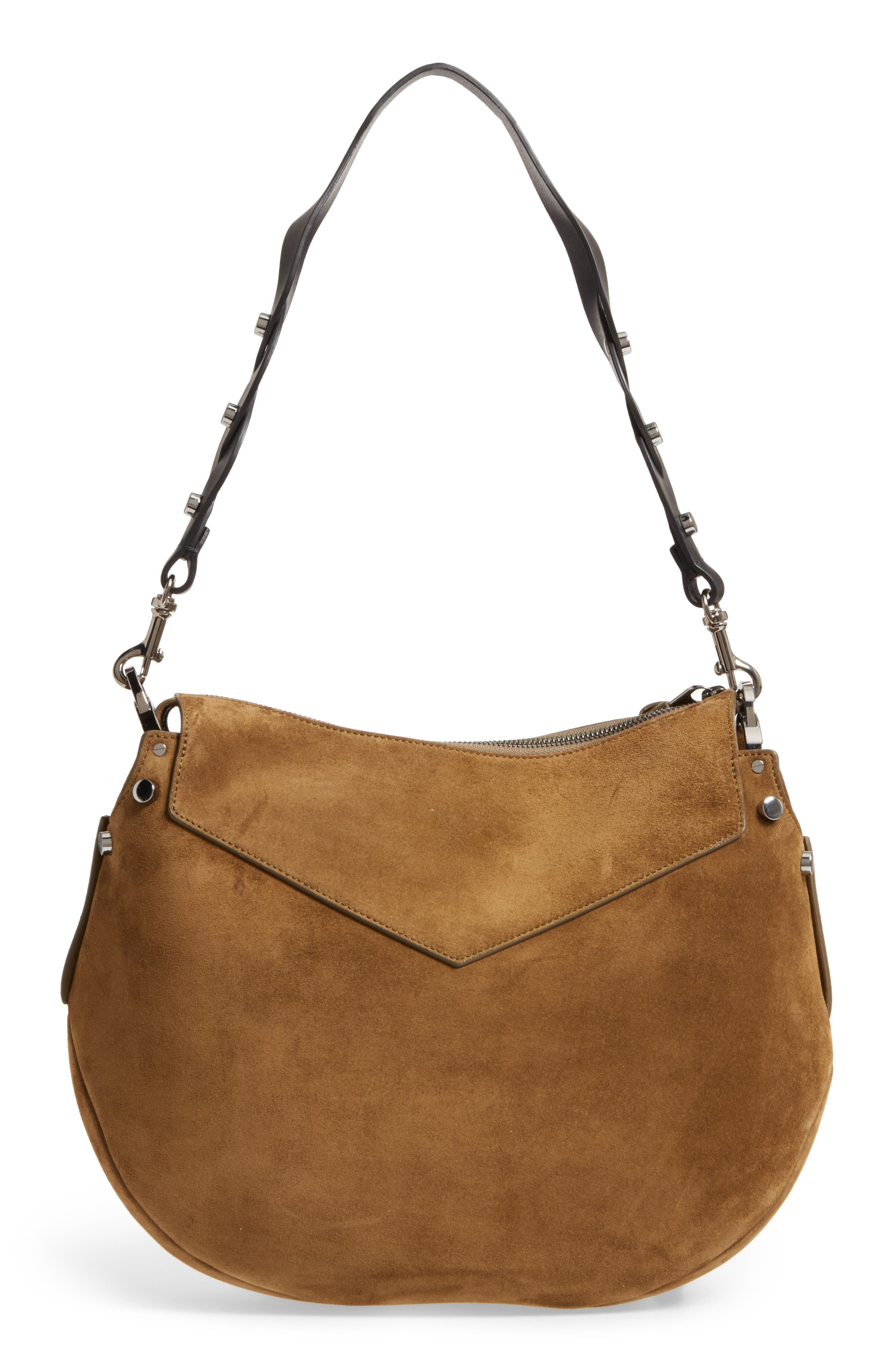 Artie Suede Hobo Bag,                             Alternate thumbnail 10, color,