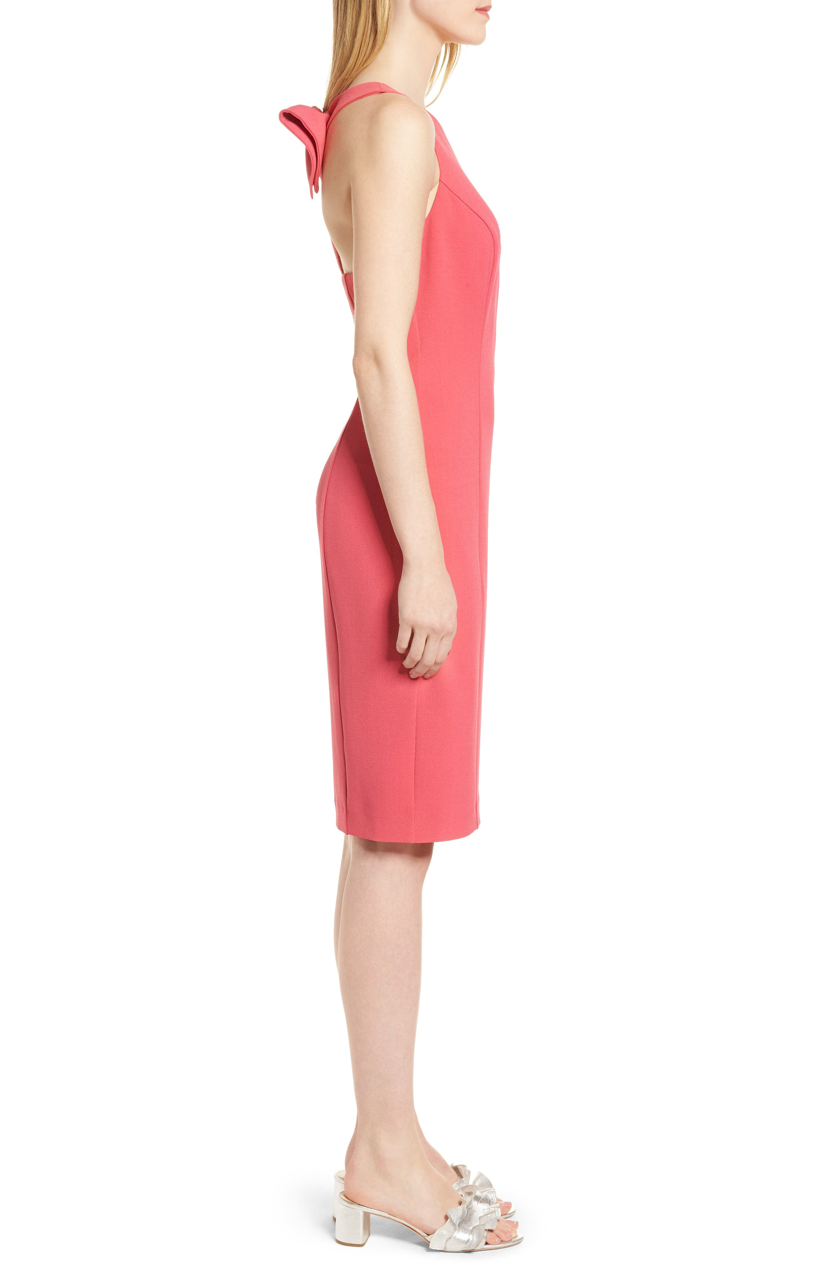 Bow Back Sheath Dress,                             Alternate thumbnail 10, color,