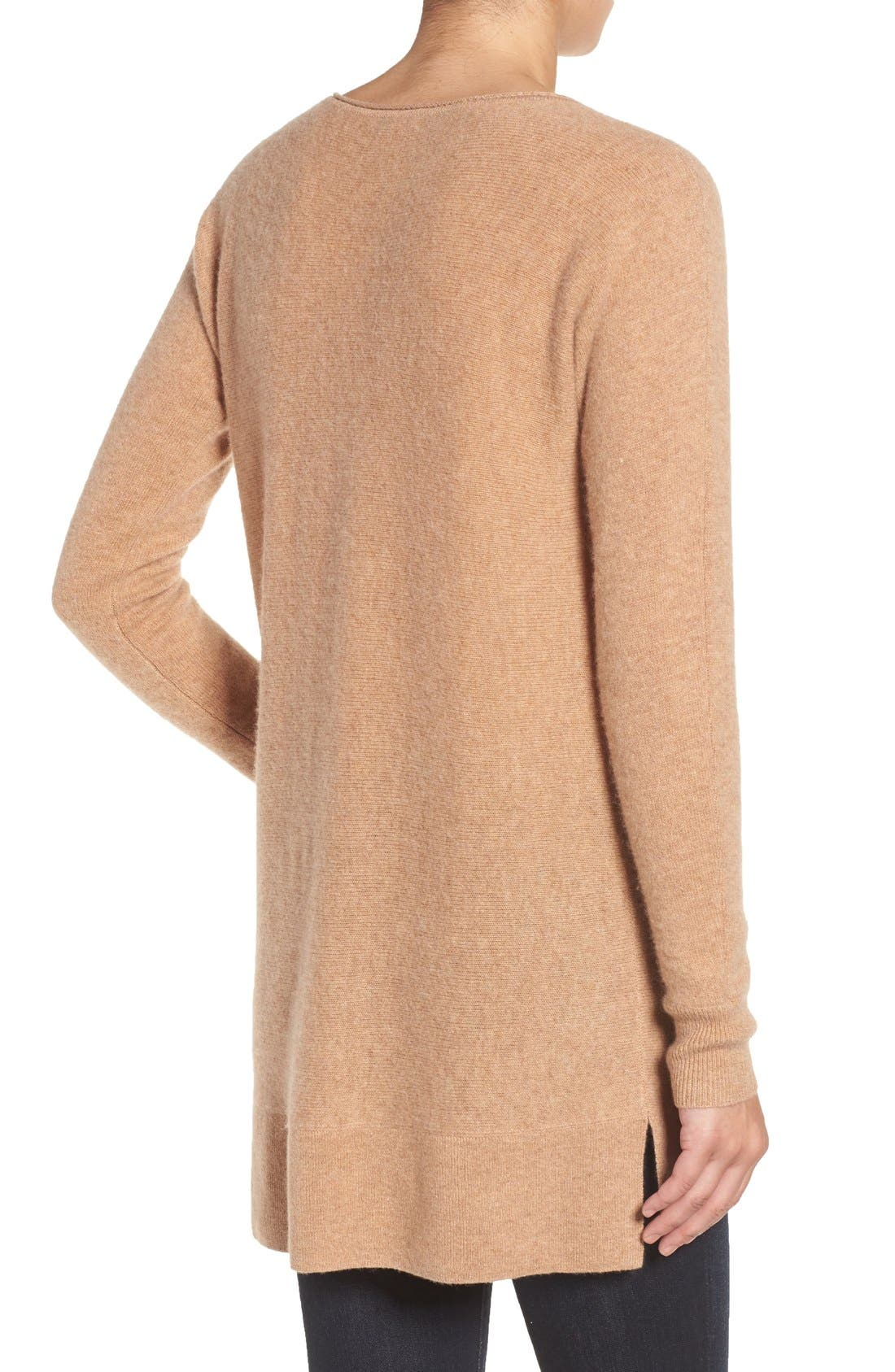 High/Low Wool & Cashmere Tunic Sweater,                             Alternate thumbnail 110, color,