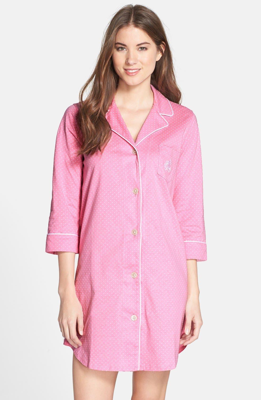 Jersey Sleep Shirt,                             Main thumbnail 8, color,