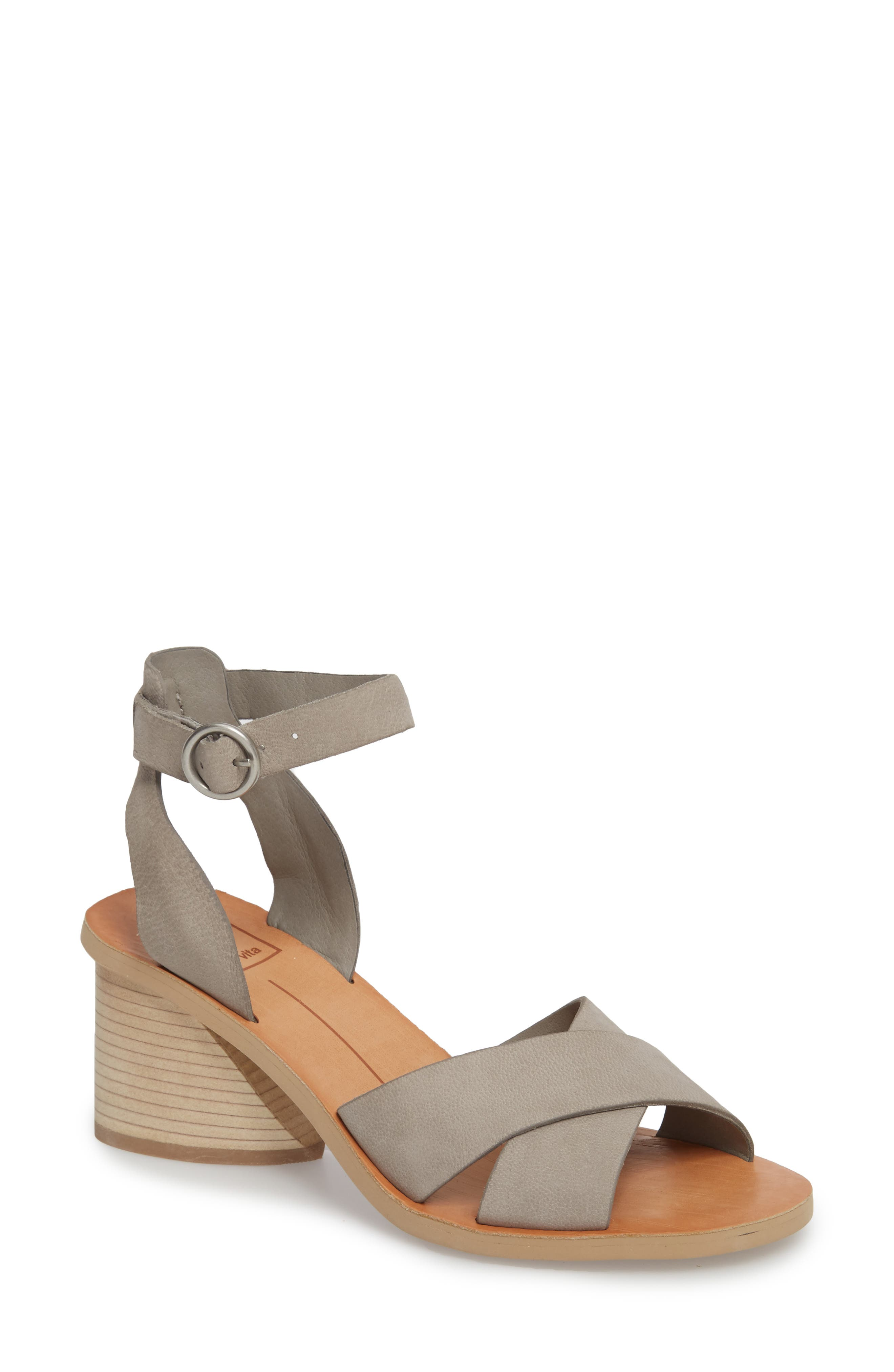 Roman Flared Heel Sandal,                             Main thumbnail 1, color,                             020