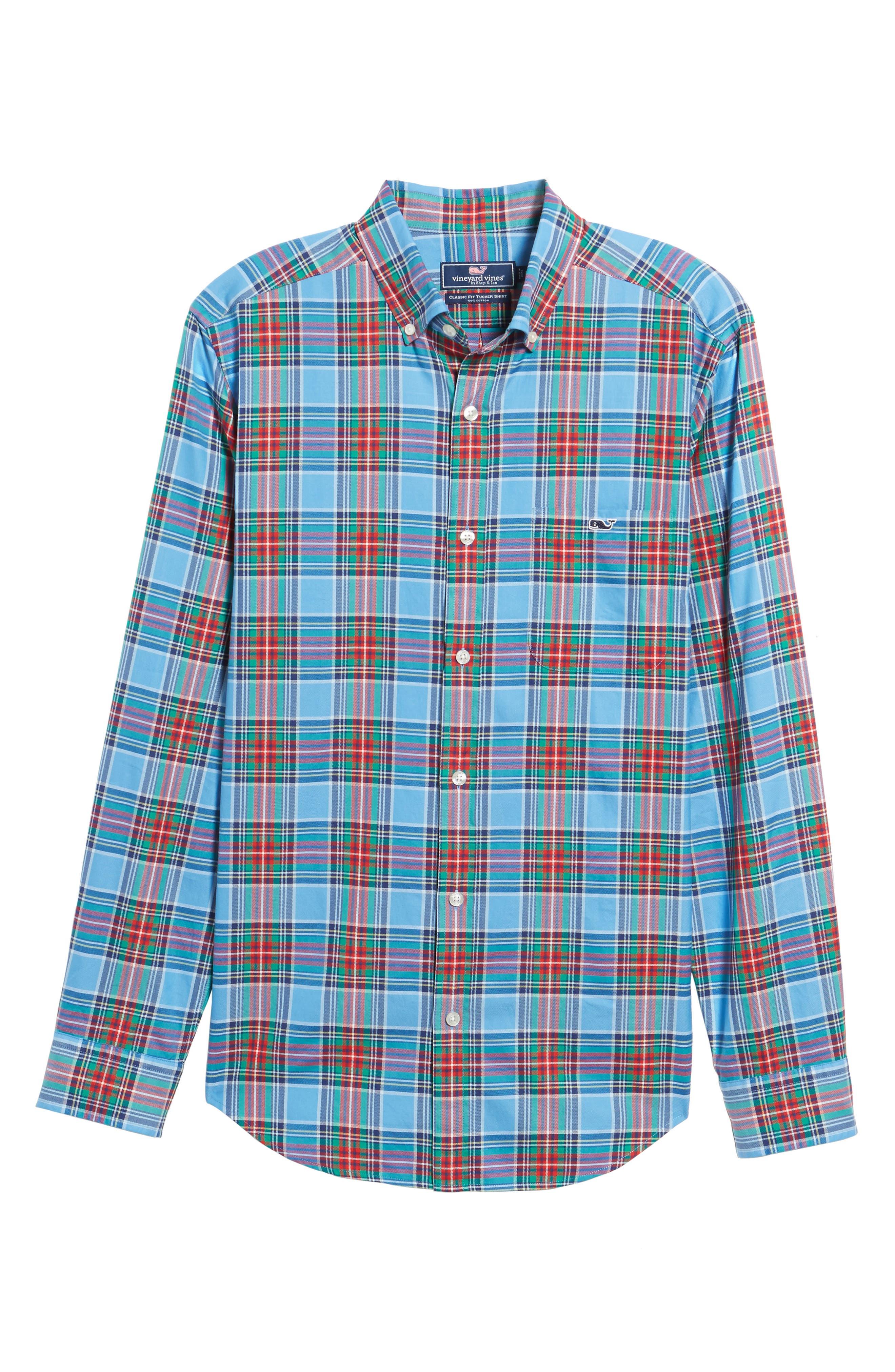 Tucker Belmont Classic Fit Plaid Sport Shirt,                             Alternate thumbnail 6, color,                             447