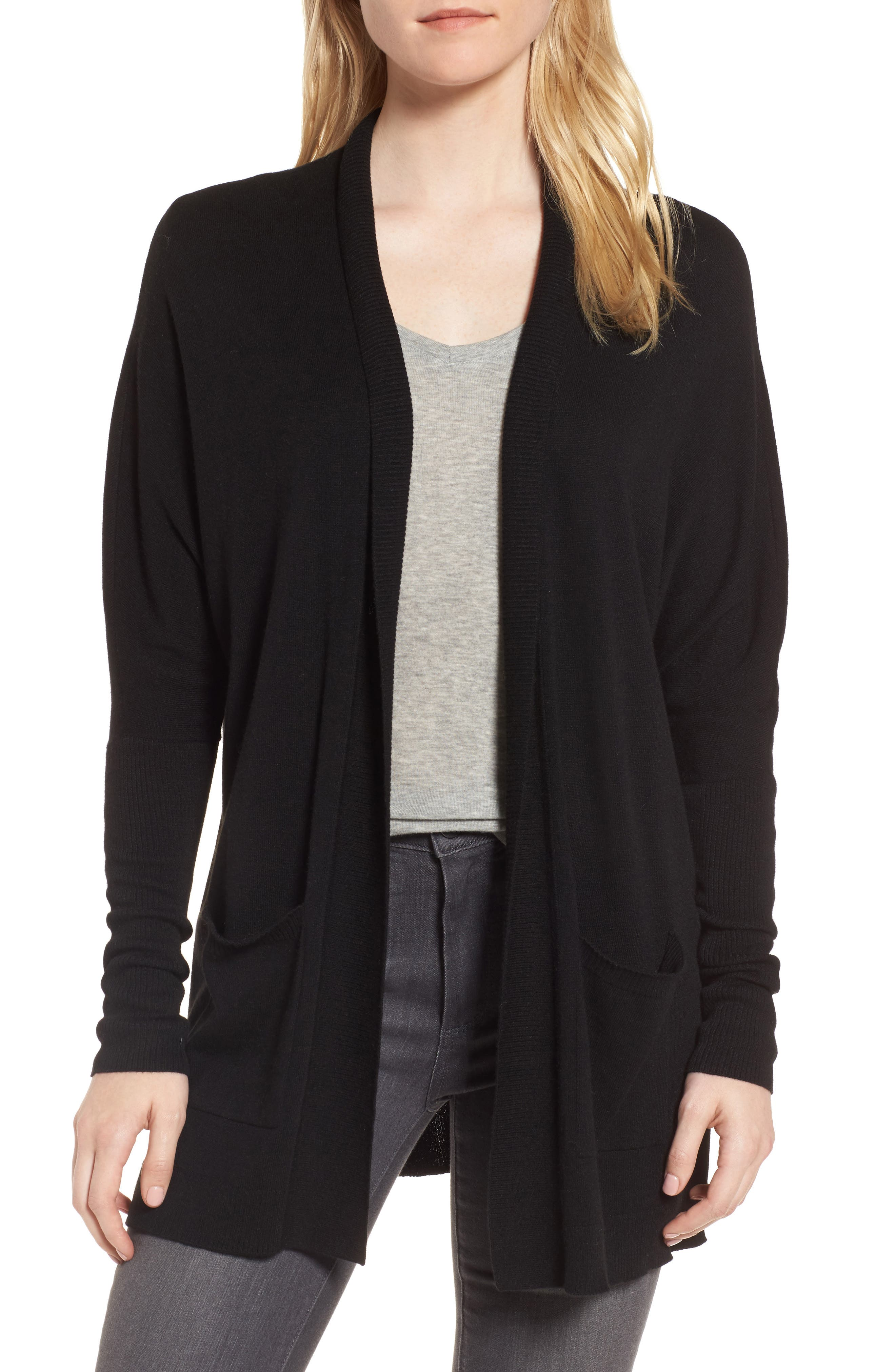 Open Front Cardigan,                         Main,                         color, 001