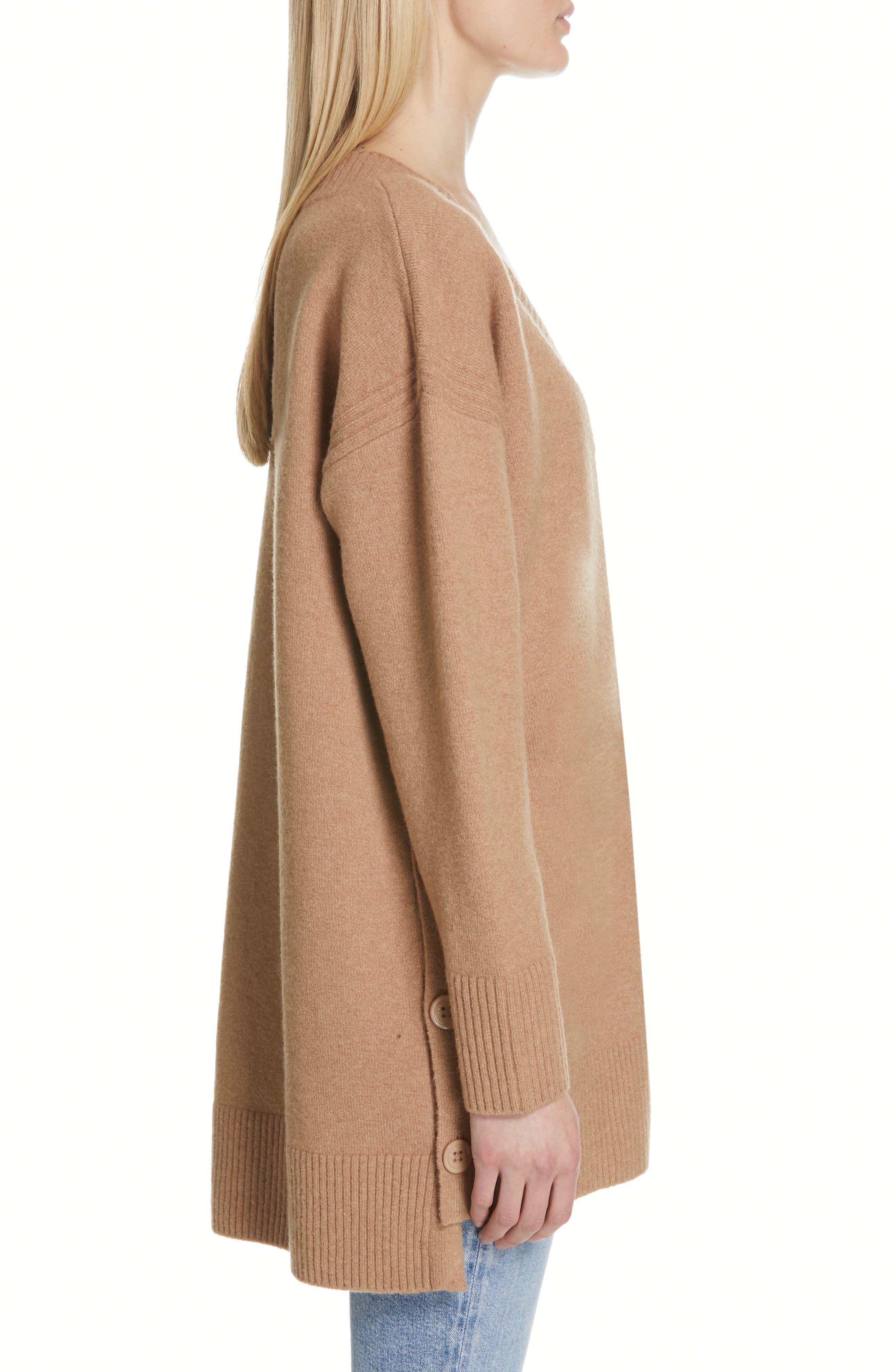 Cortis Merino Wool & Alpaca Blend Sweater,                             Alternate thumbnail 3, color,                             CAMEL