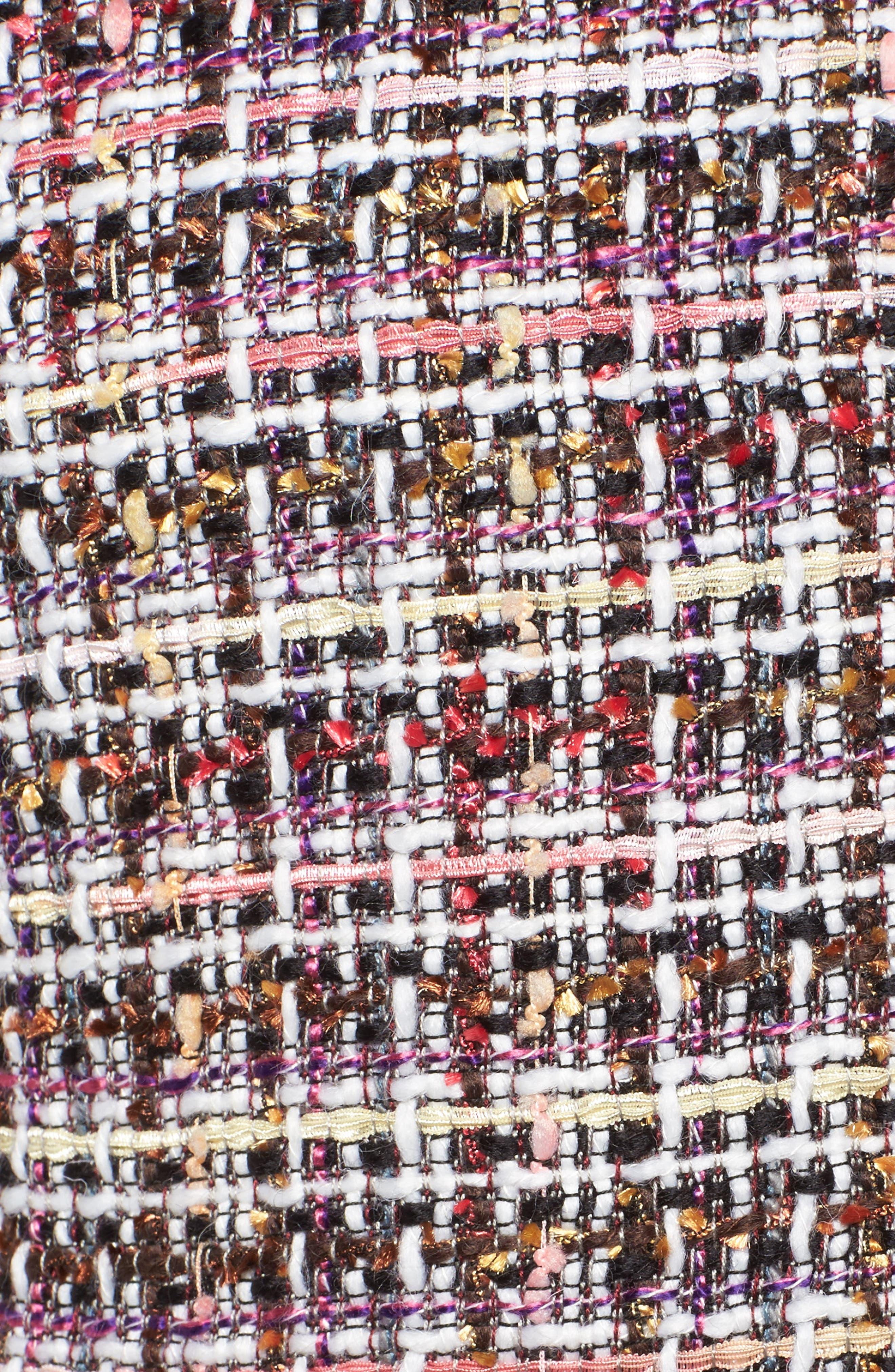 Ruffle Detail Tweed Jacket,                             Alternate thumbnail 6, color,                             660