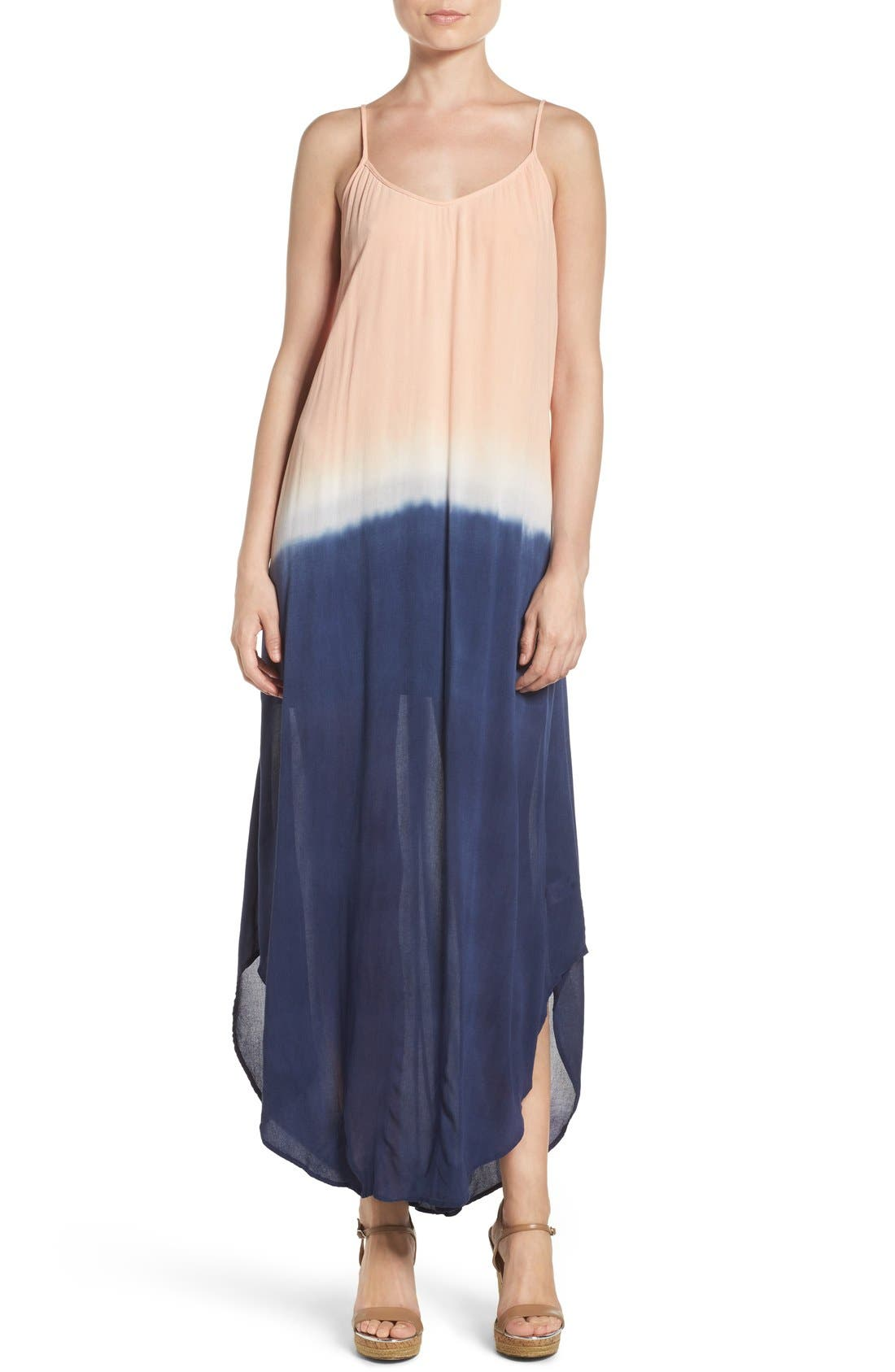 Maxi Dress,                         Main,                         color, NAVY BLUSH