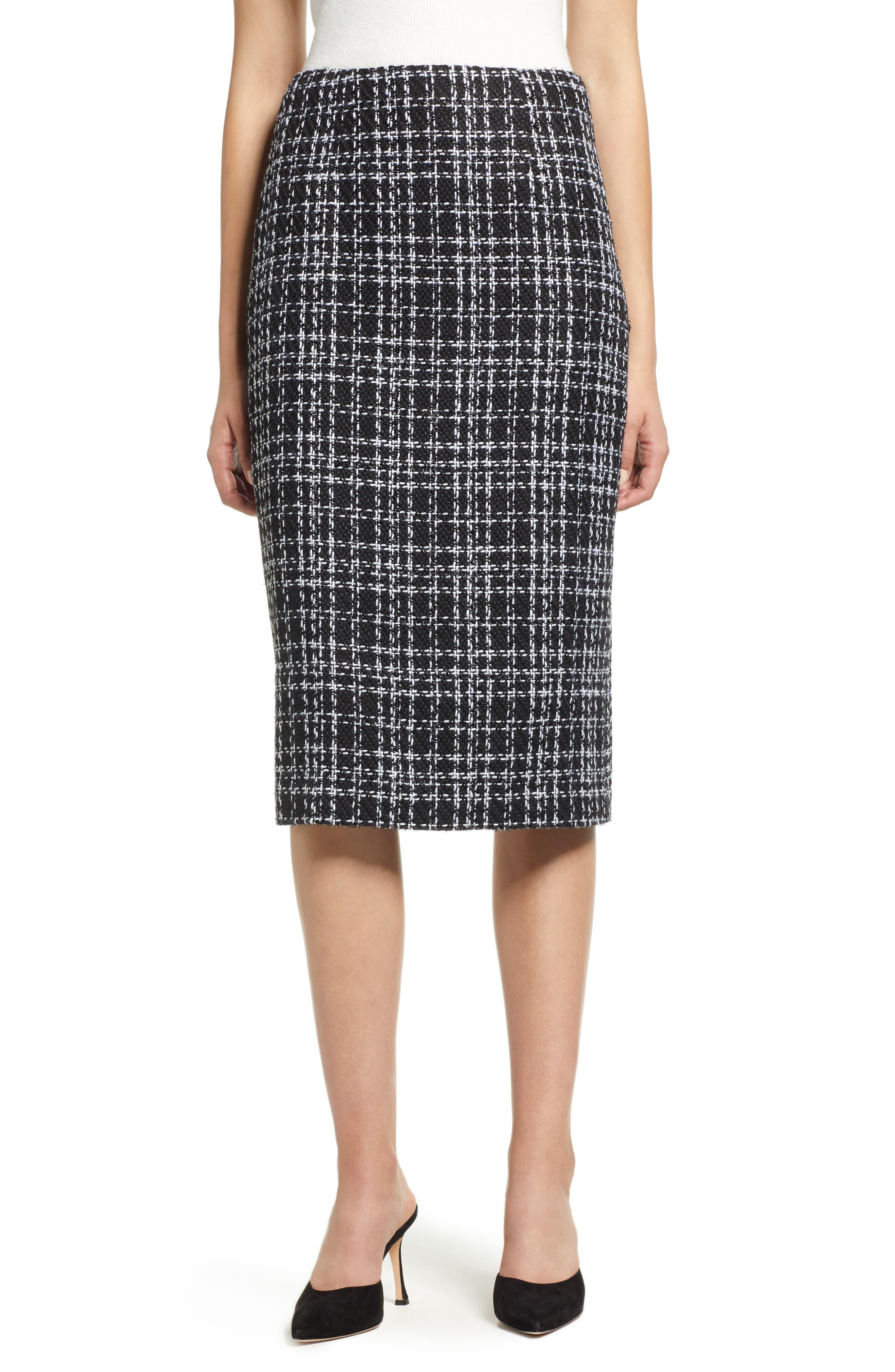 Plaid Tweed Pencil Skirt by Halogen®