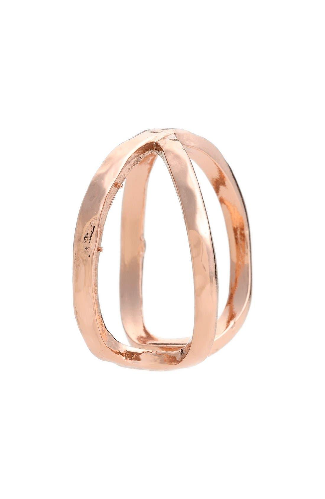 'Elea' Ring,                             Alternate thumbnail 2, color,                             ROSE GOLD