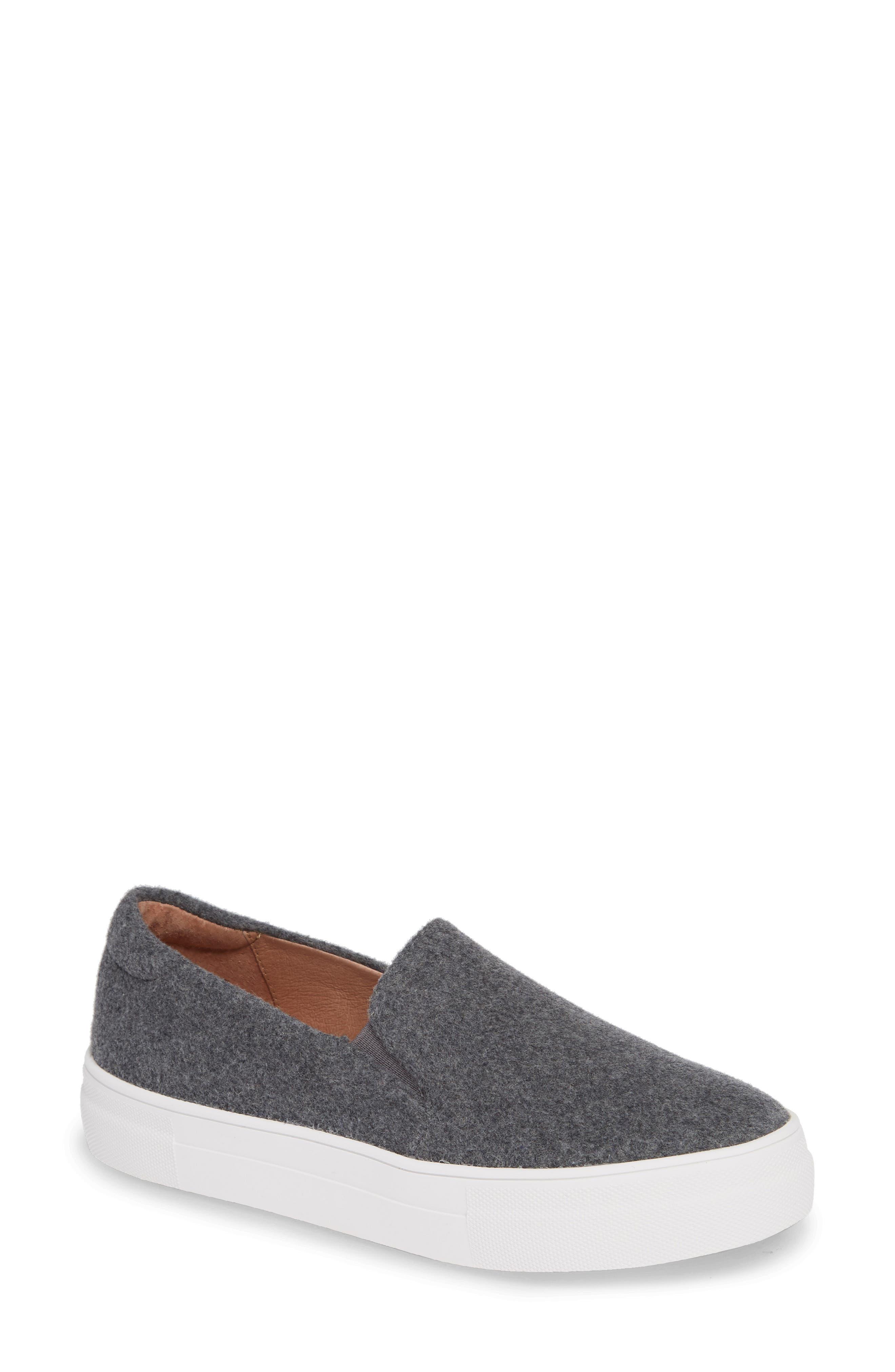 Alden Slip-On Sneaker,                         Main,                         color, STONE BOILED WOOL