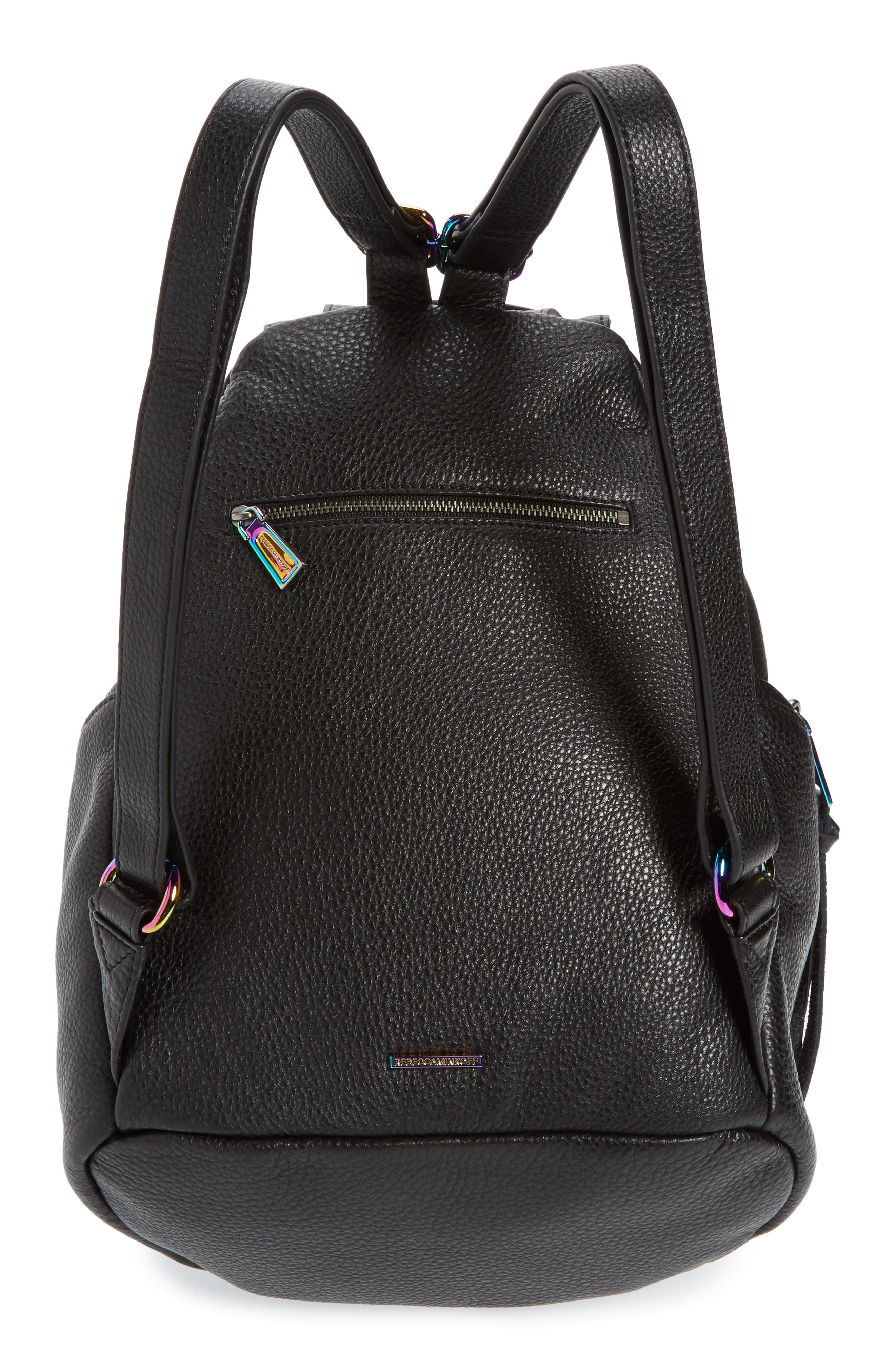 Julian Always On Charging Leather Backpack,                             Alternate thumbnail 3, color,                             001