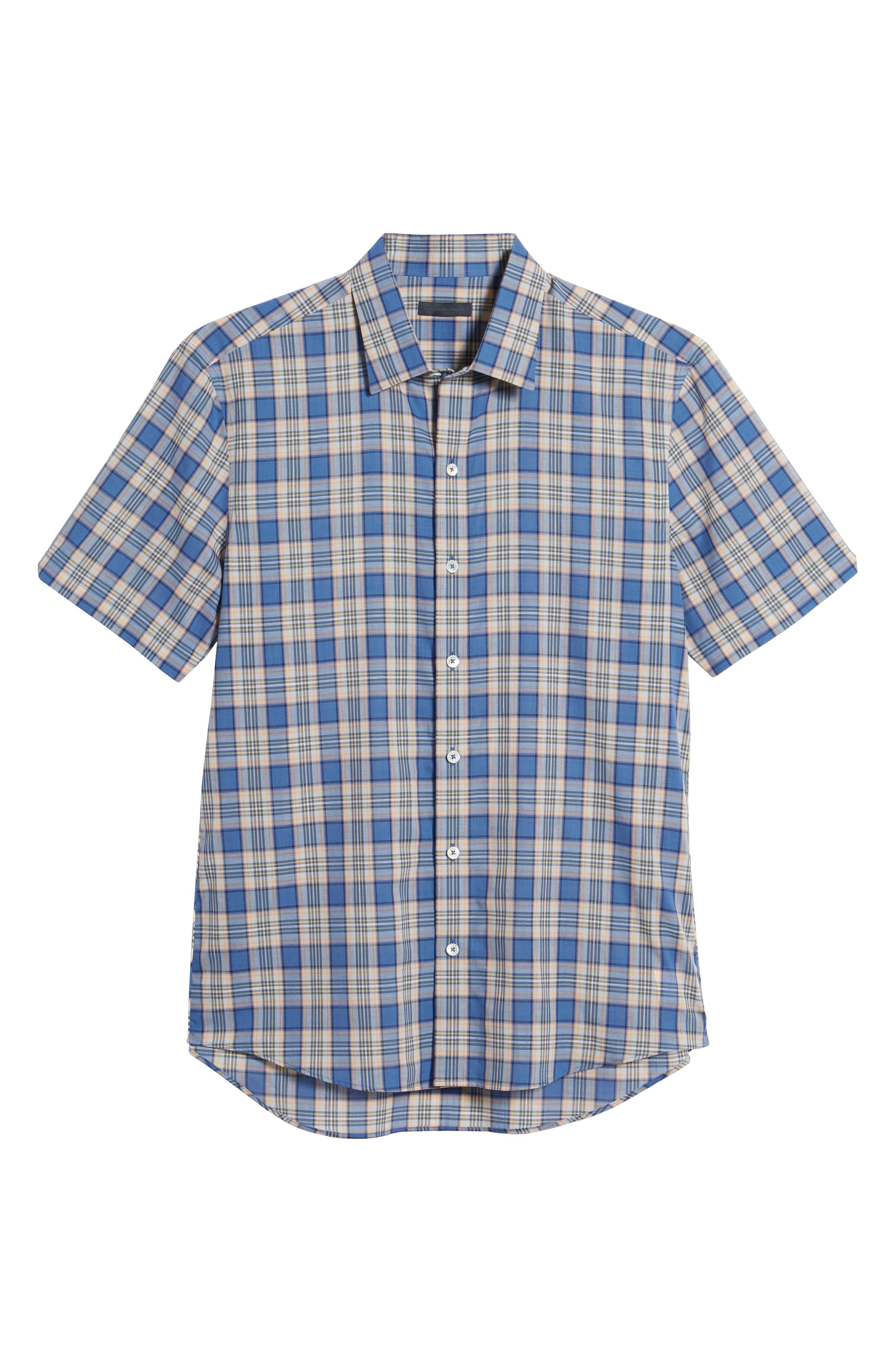 Carter Plaid Sport Shirt,                             Alternate thumbnail 6, color,                             400