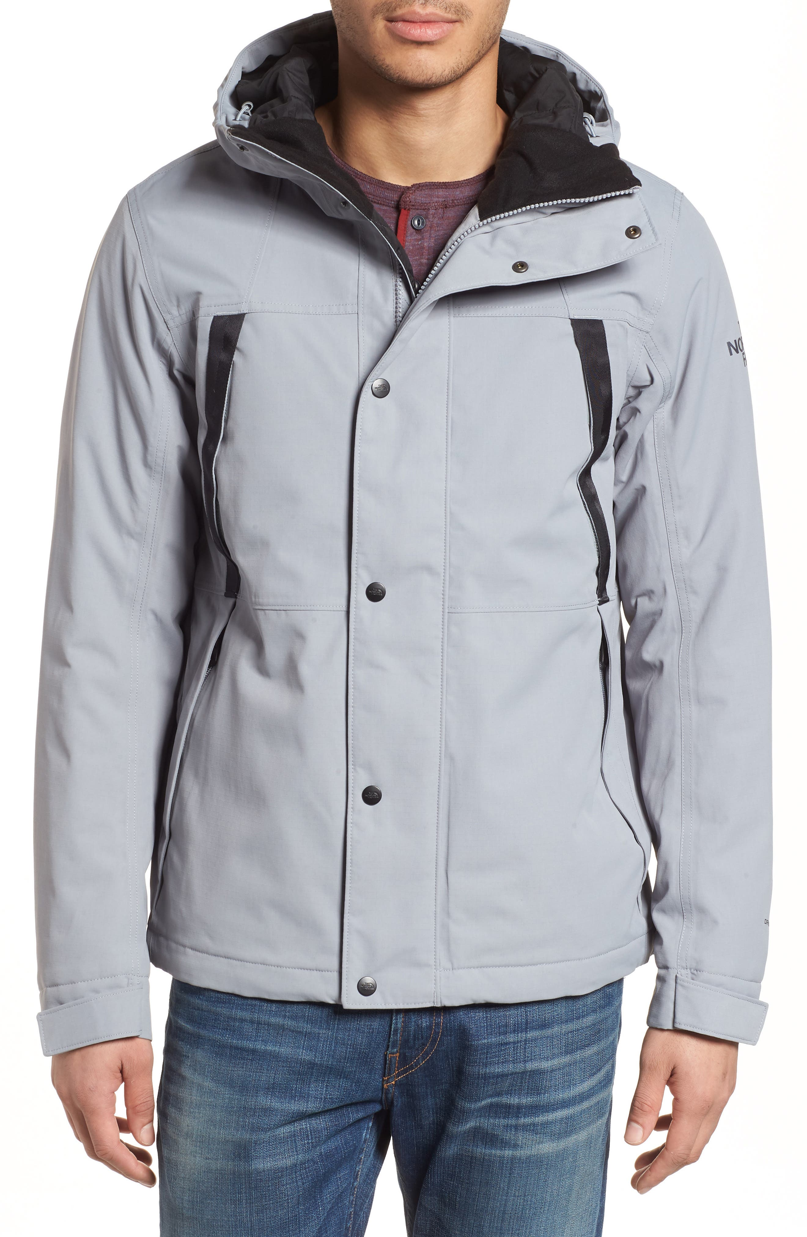 Stetler Insulated Rain Jacket,                             Alternate thumbnail 4, color,                             MID GREY