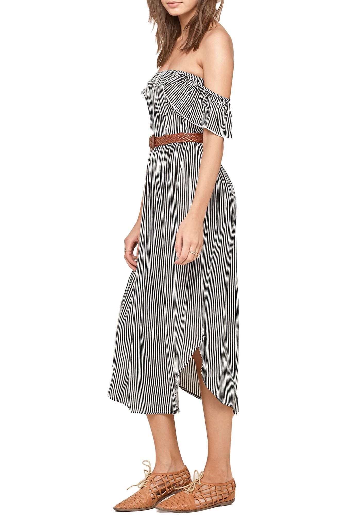 Off the Shoulder Midi Dress,                             Alternate thumbnail 6, color,