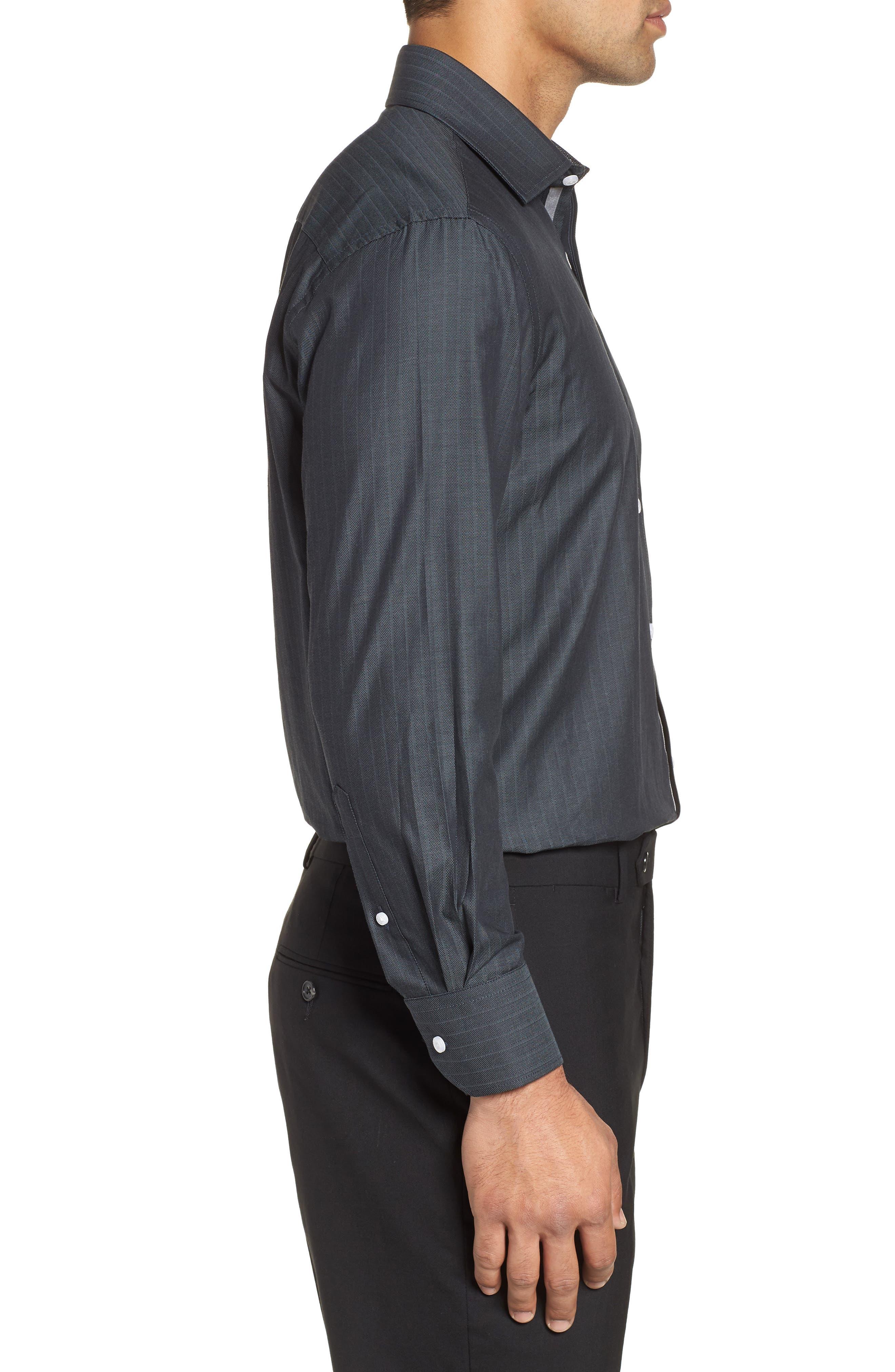 Regular Fit Solid Dress Shirt,                             Alternate thumbnail 4, color,                             GREY