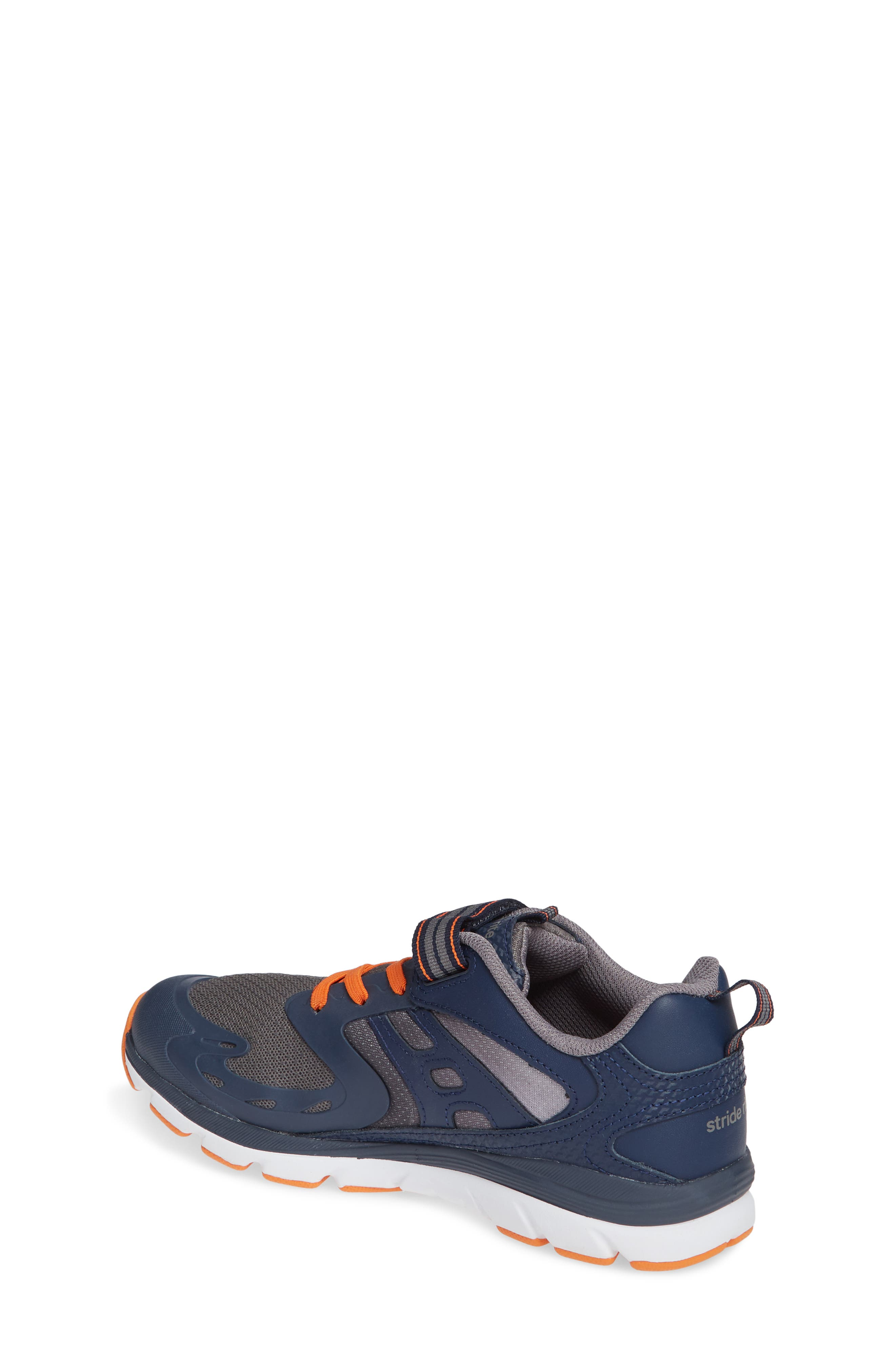 Made 2 Play Breccen Sneaker,                             Alternate thumbnail 2, color,                             NAVY/ ORANGE