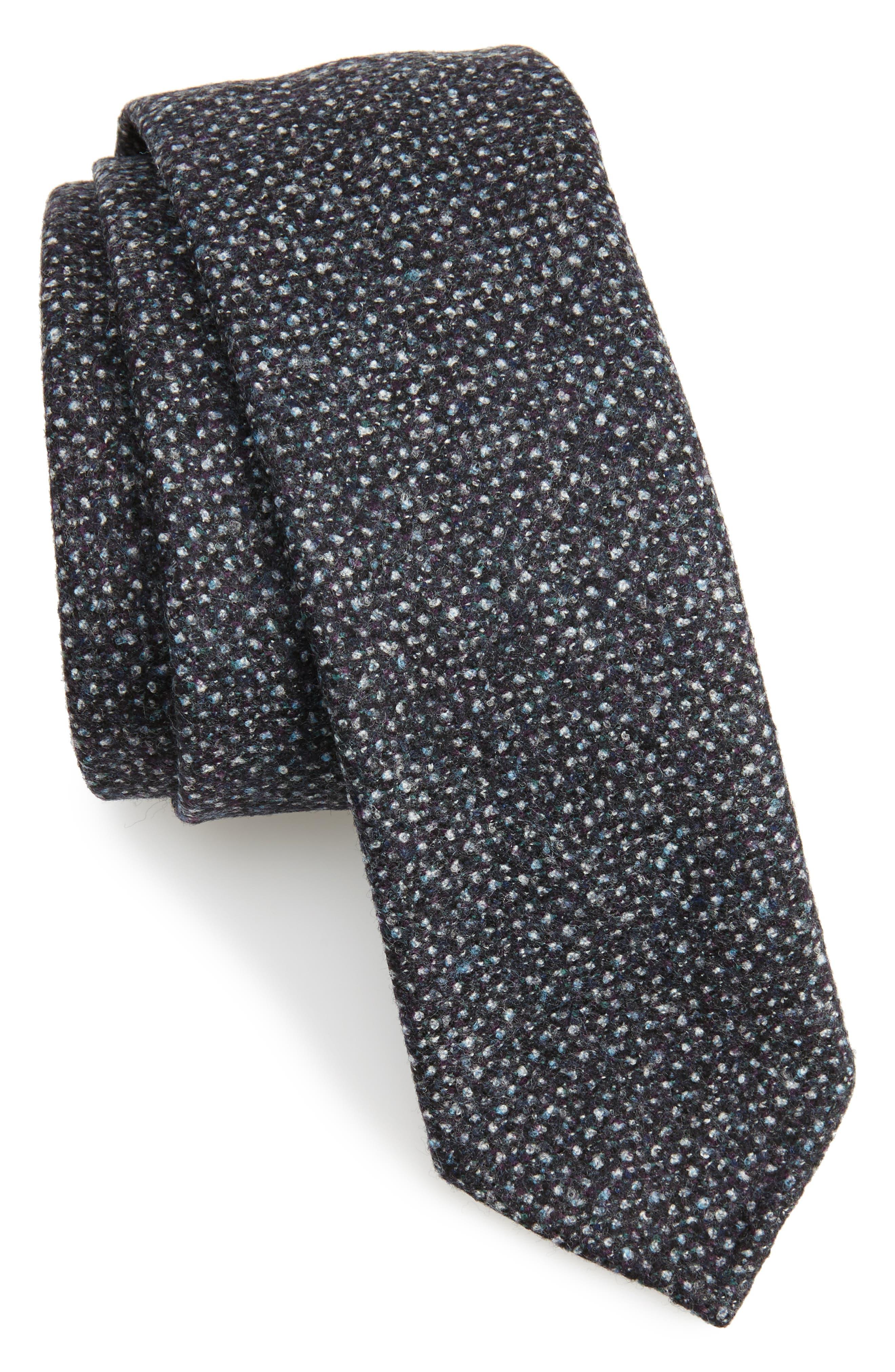 Mélange Wool Skinny Tie,                         Main,                         color, 061