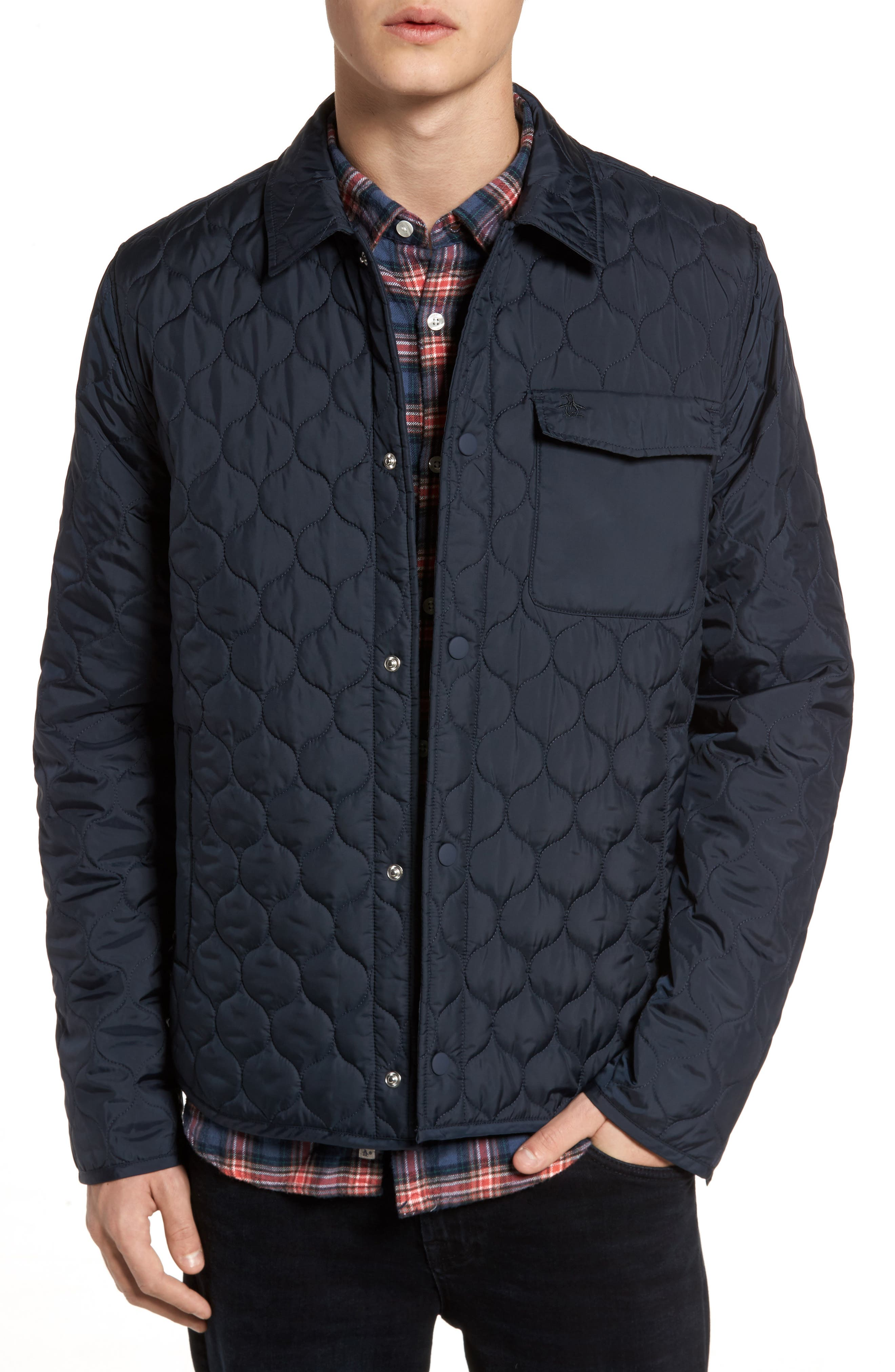 ORIGINAL PENGUIN,                             Lightweight Onion Quilted Jacket,                             Main thumbnail 1, color,                             413