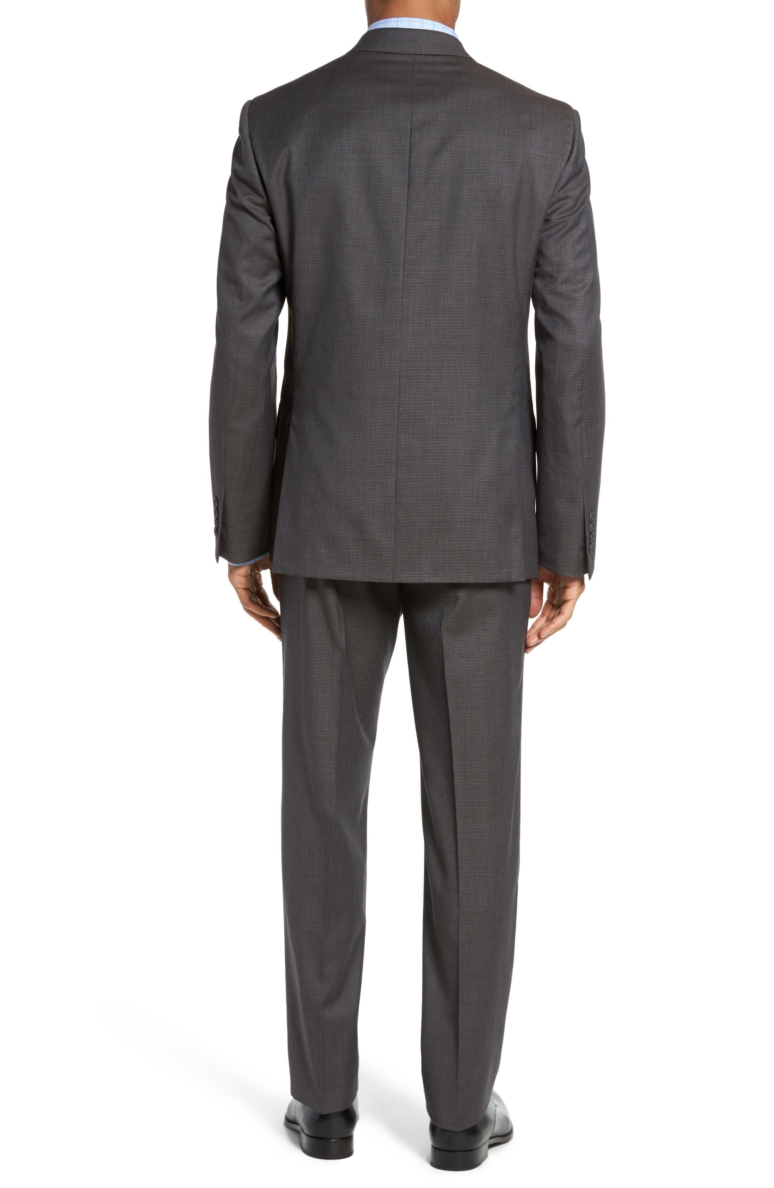 Classic Fit Check Wool Suit,                             Alternate thumbnail 6, color,