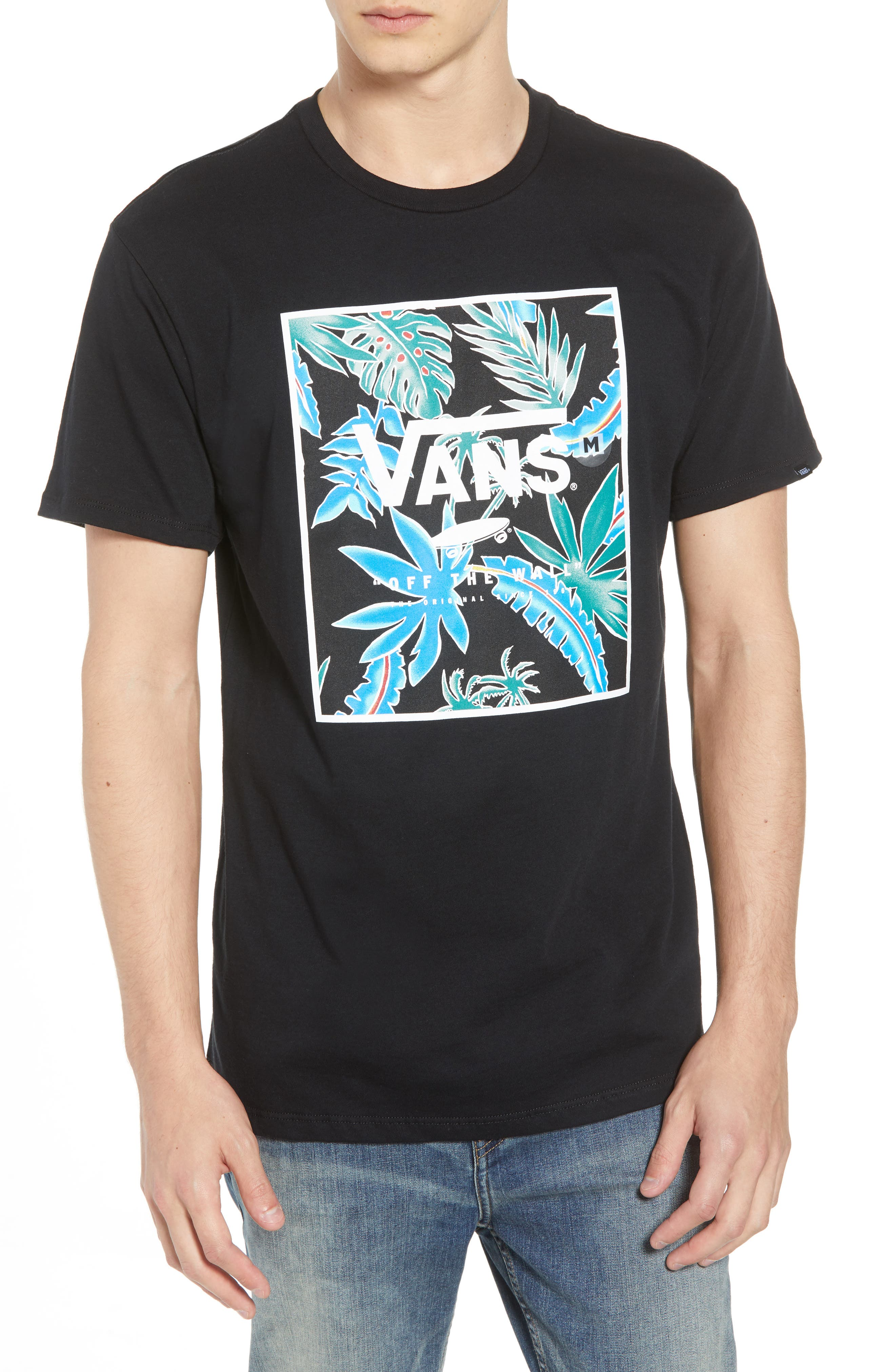 Logo Box T-Shirt,                         Main,                         color, 001
