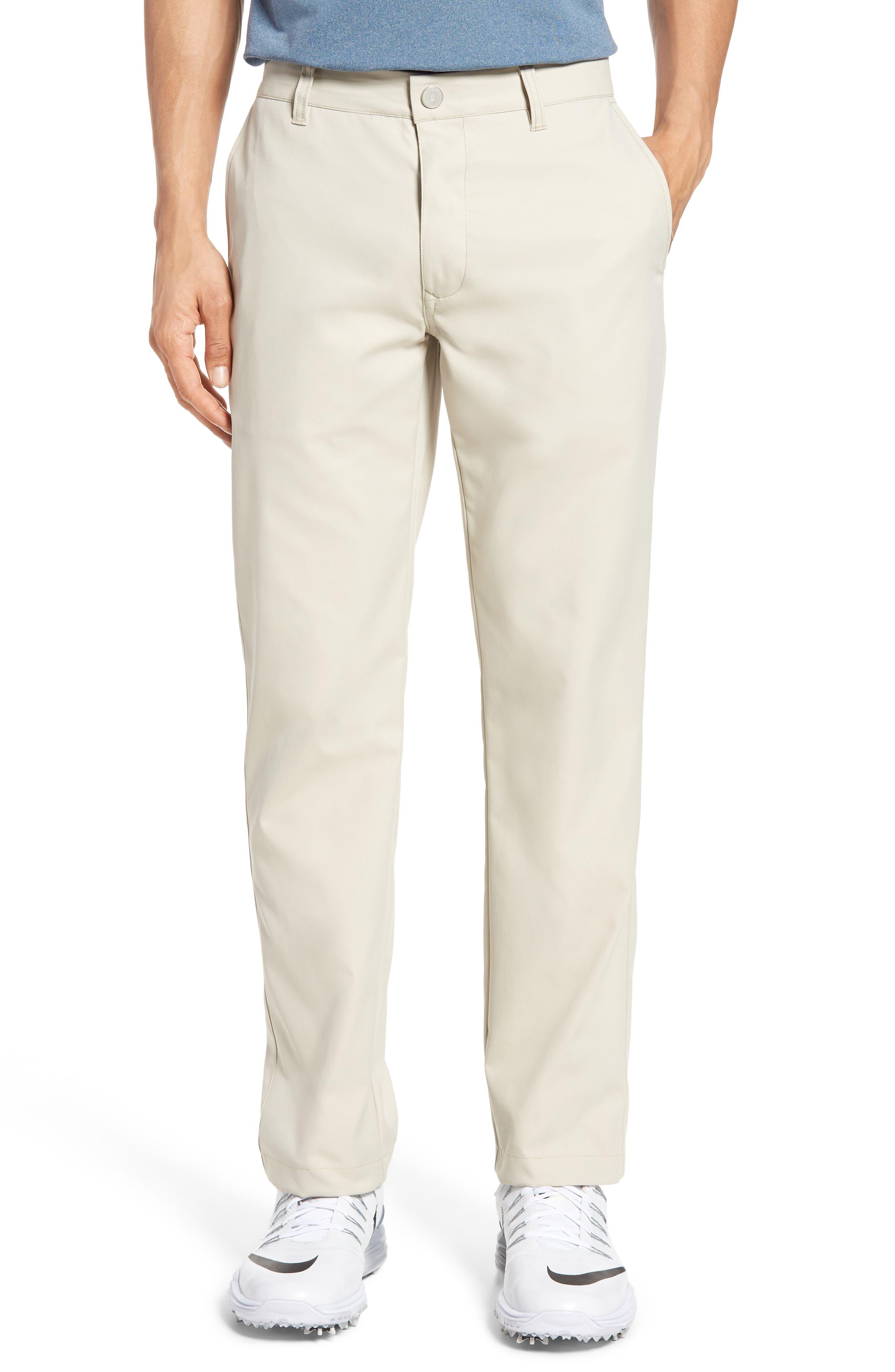 Highland Slim Fit Golf Pants,                         Main,                         color, STONE
