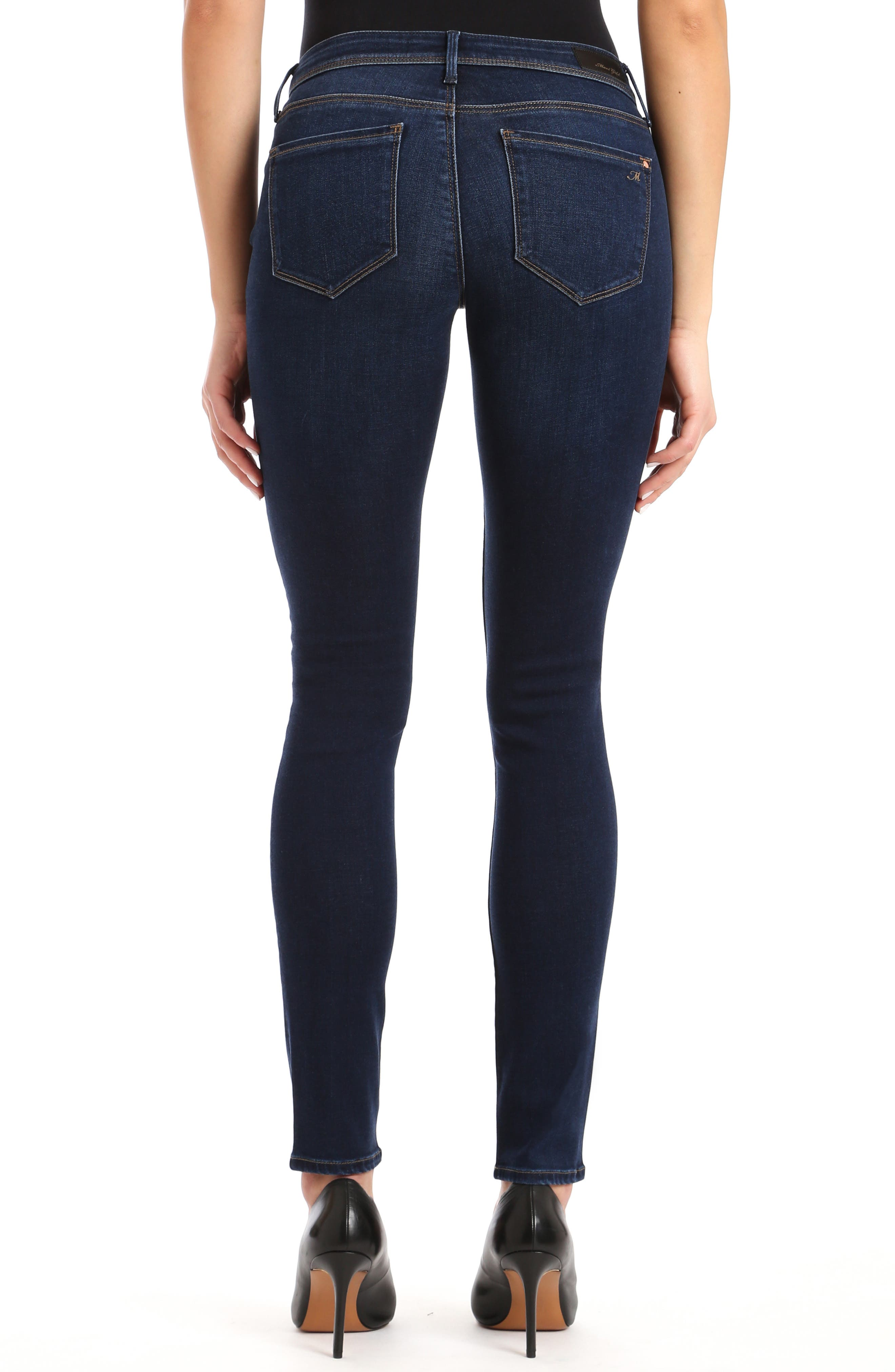 Alexa Skinny Jeans,                             Alternate thumbnail 2, color,                             DEEP SOFT GOLD LUX MOVE