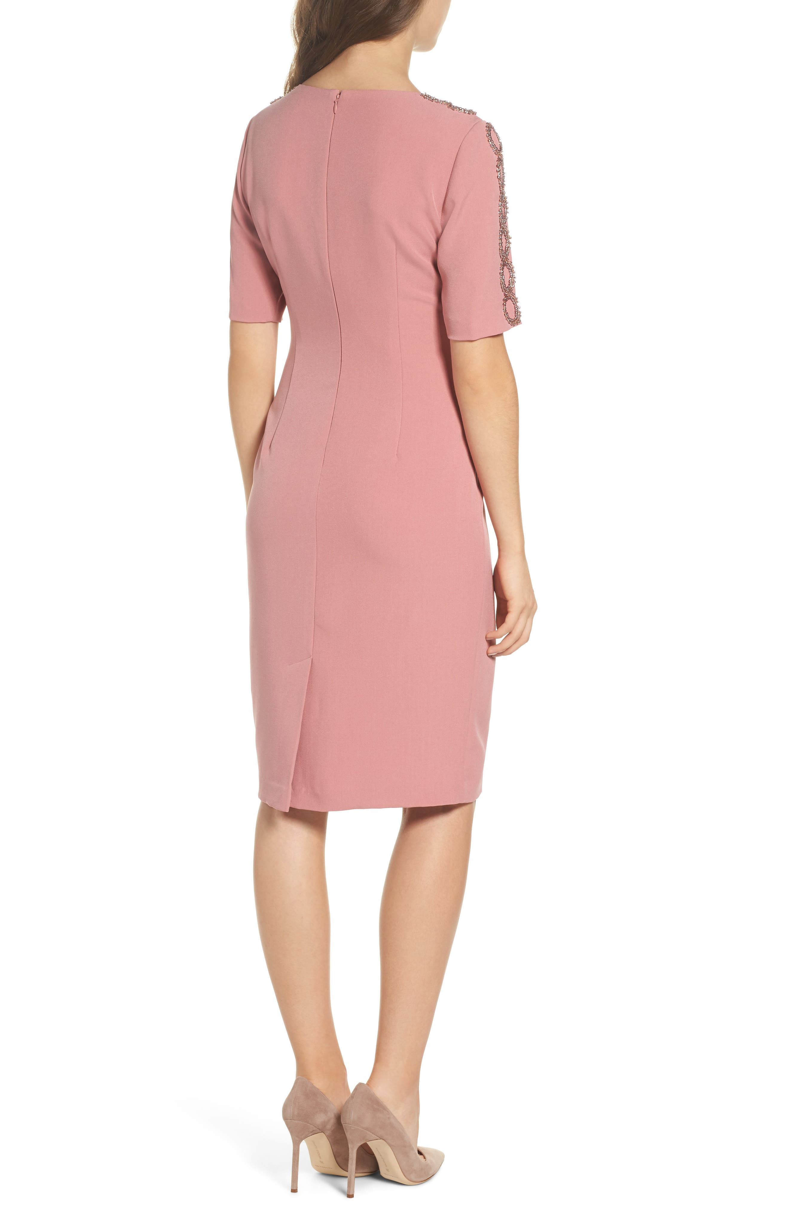 Embellished Sheath Dress,                             Alternate thumbnail 2, color,