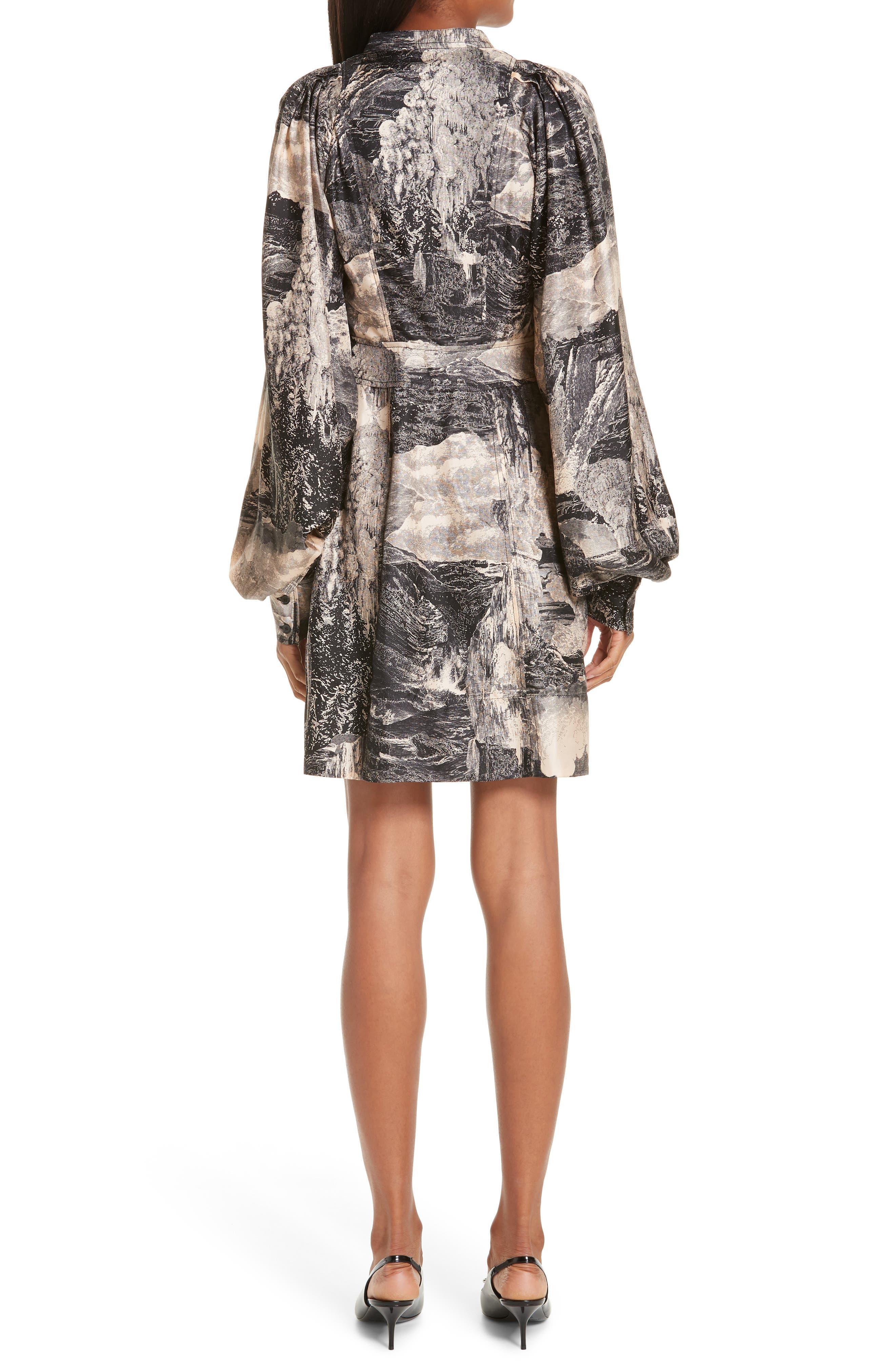 Pascala Silk Dress,                             Alternate thumbnail 2, color,                             PALE APRICOT