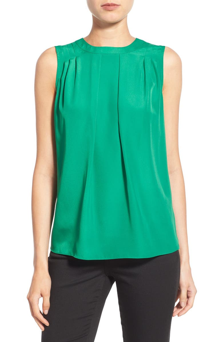 8af420f04cbfc MICHAEL Michael Kors Sleeveless Pleat Front Top