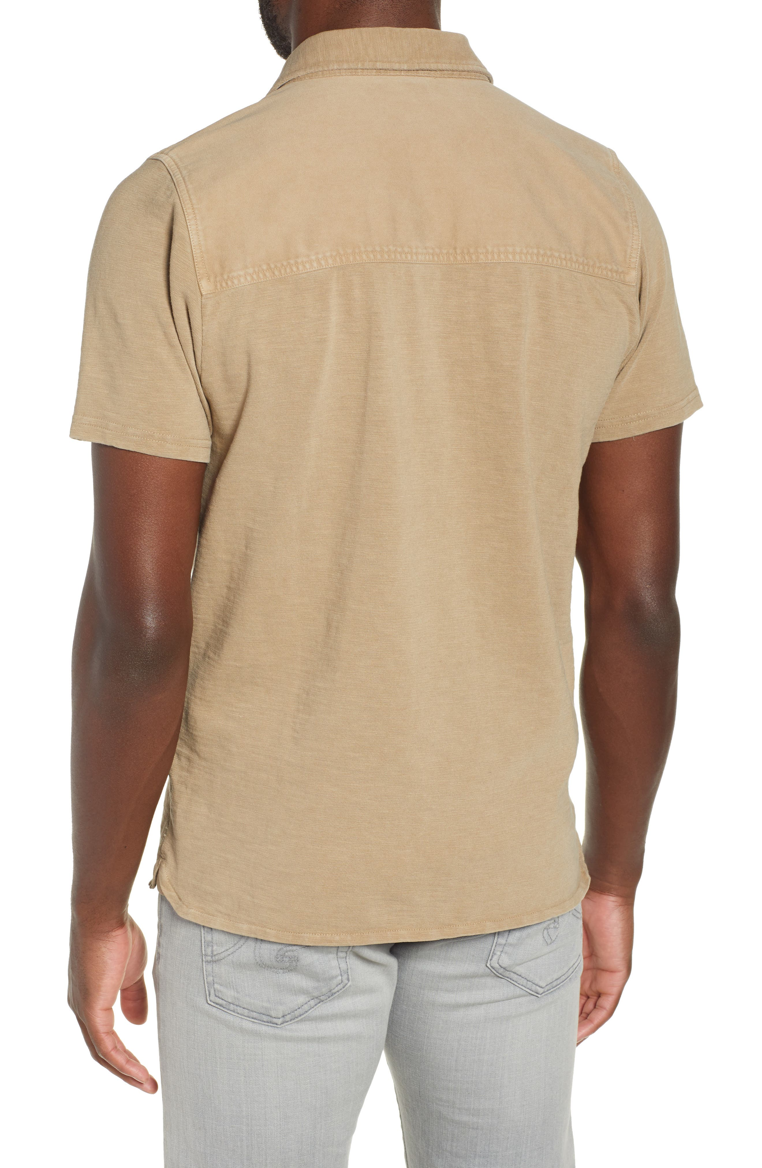 Two-Pocket Military Polo,                             Alternate thumbnail 2, color,                             BEIGE
