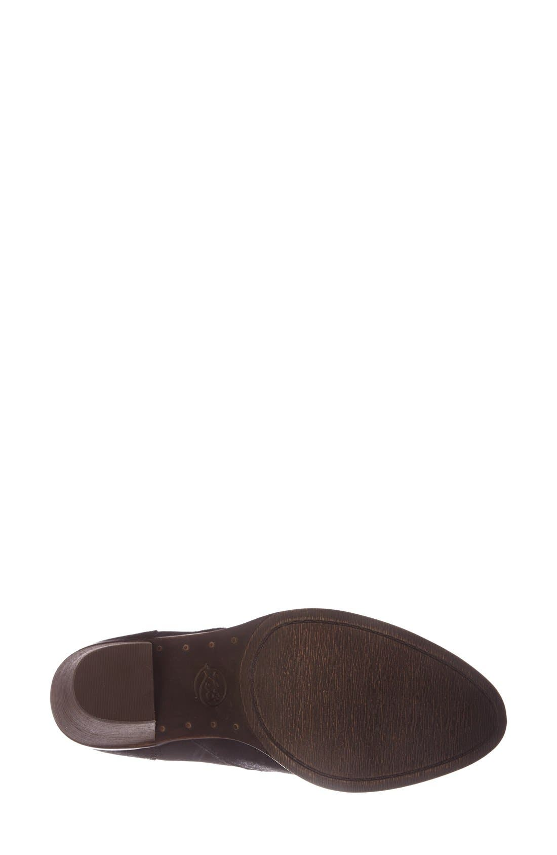 'Ehllen' Textured Leather Bootie,                             Alternate thumbnail 2, color,                             001