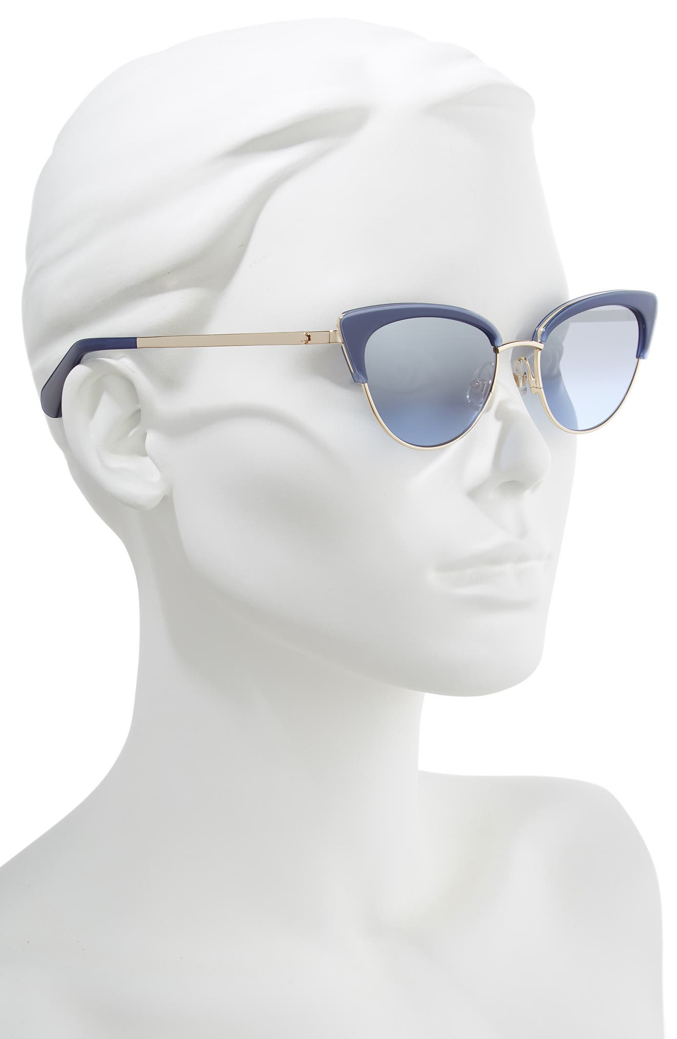 KATE SPADE NEW YORK,                             jahnams 52mm cat eye sunglasses,                             Alternate thumbnail 2, color,                             BLUE
