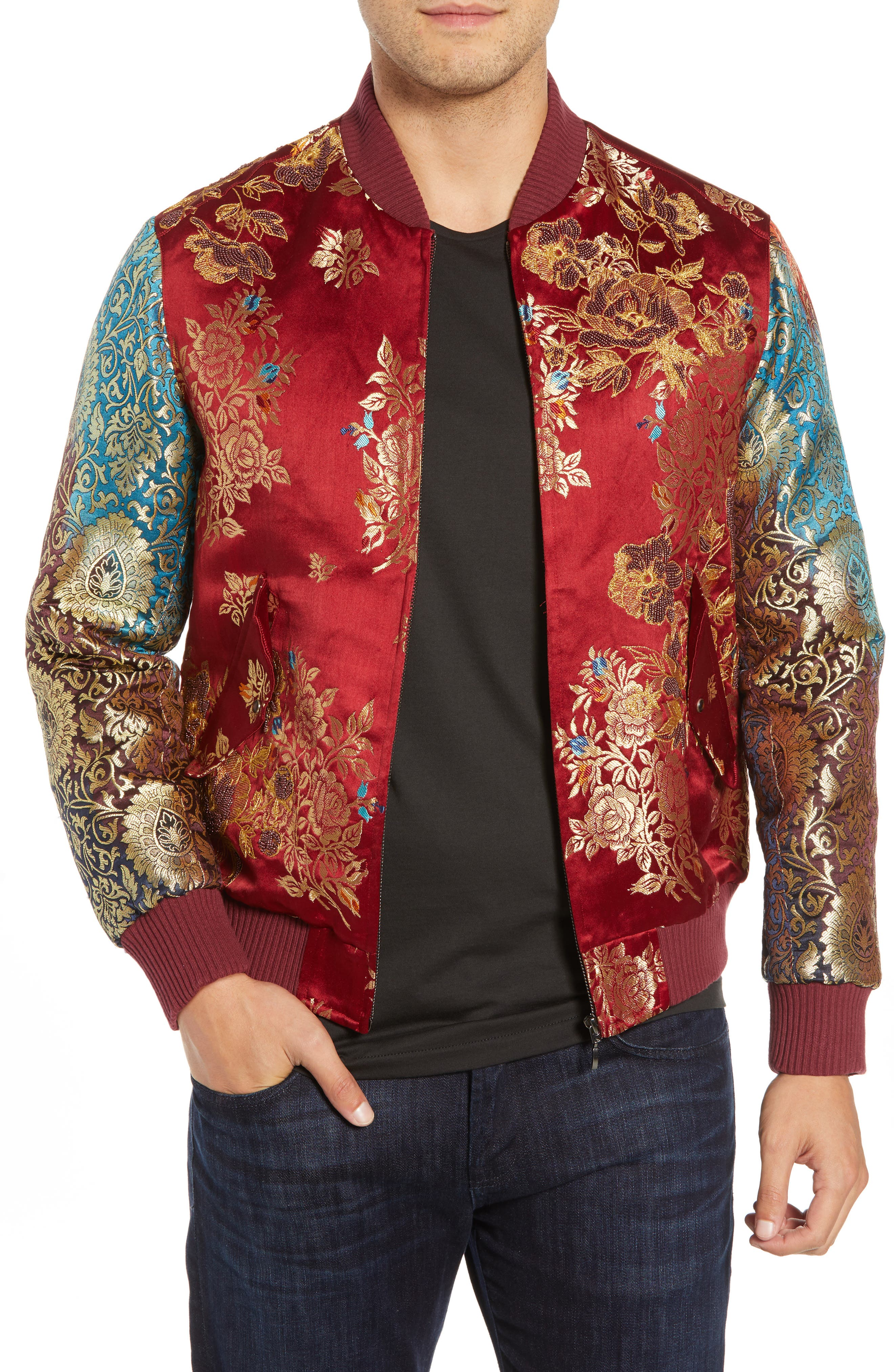 Moser Silk Jacket,                             Main thumbnail 1, color,                             MULTI