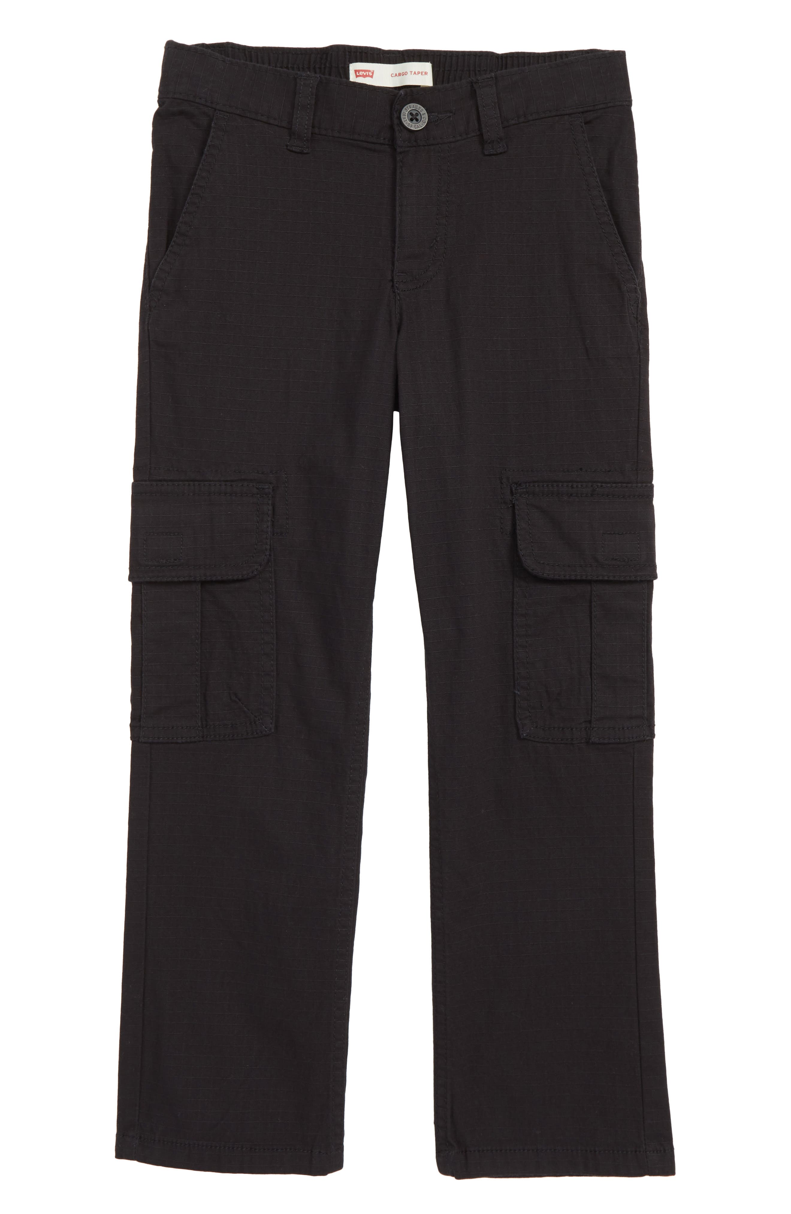 Tapered Stretch Cargo Pants,                             Main thumbnail 1, color,                             ONYX