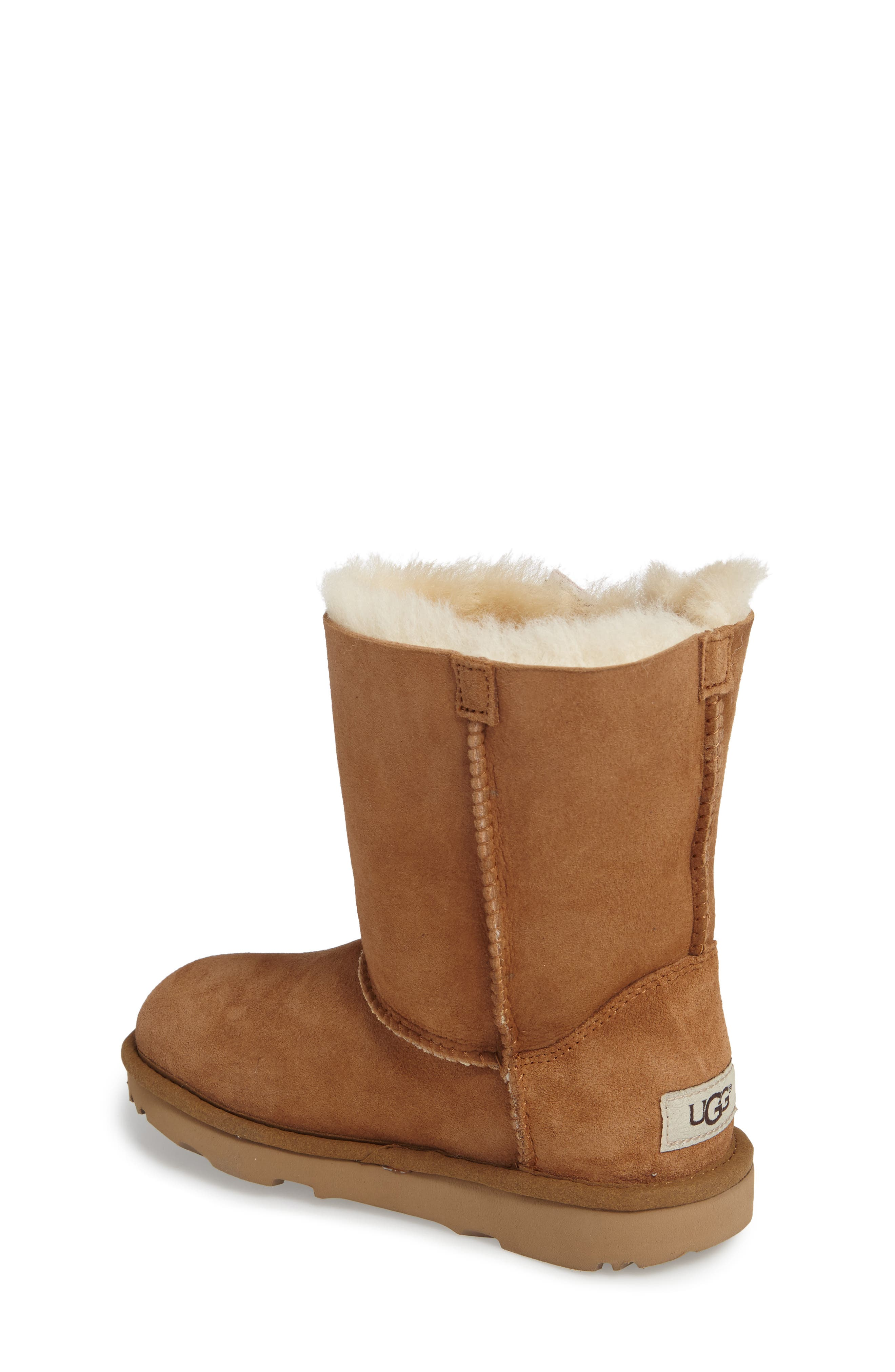 Pala Water-Resistant Genuine Shearling Boot,                             Alternate thumbnail 2, color,                             CHESTNUT