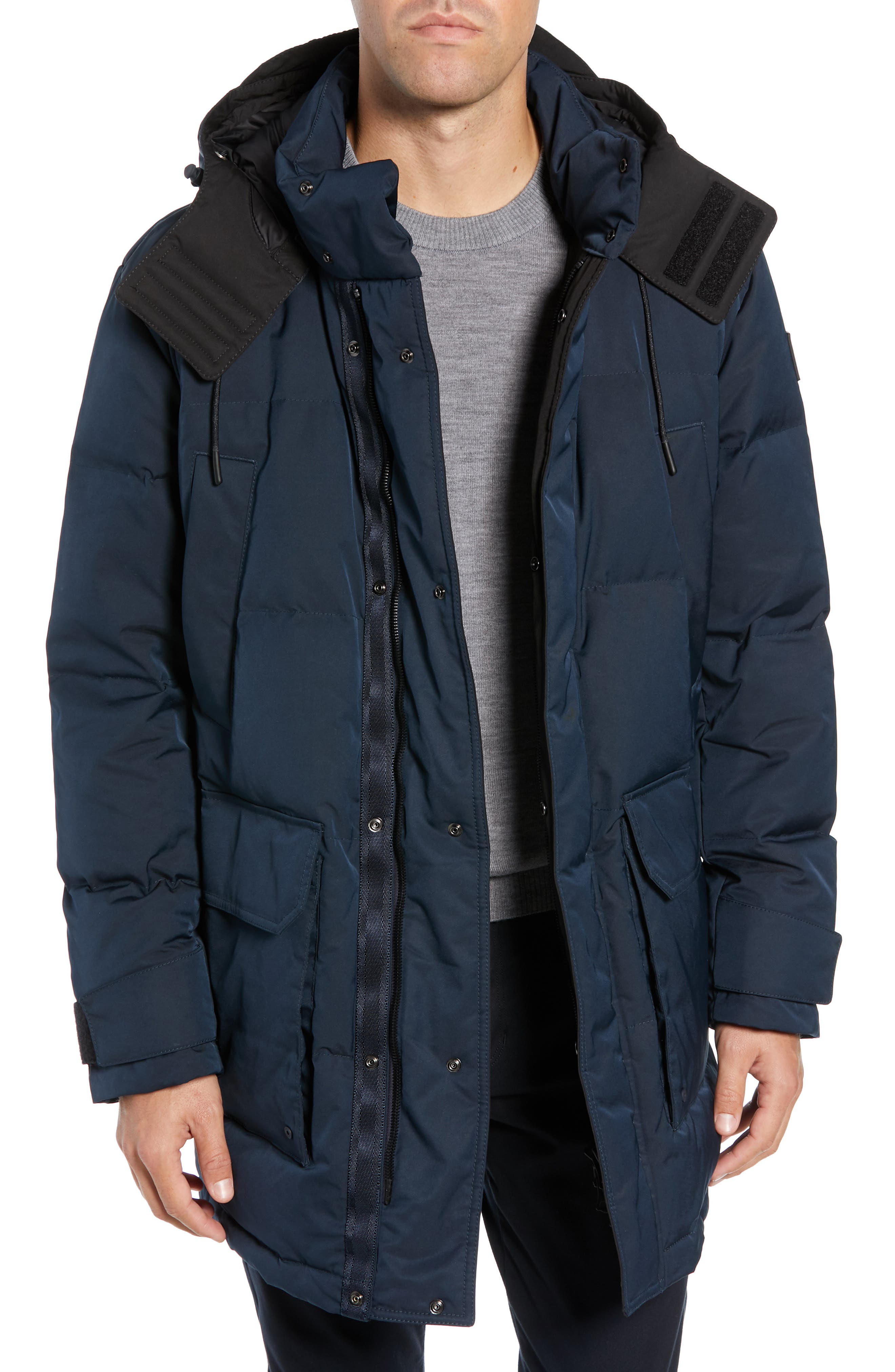 Onek Regular Fit Twill Puffer Jacket,                         Main,                         color, BLUE