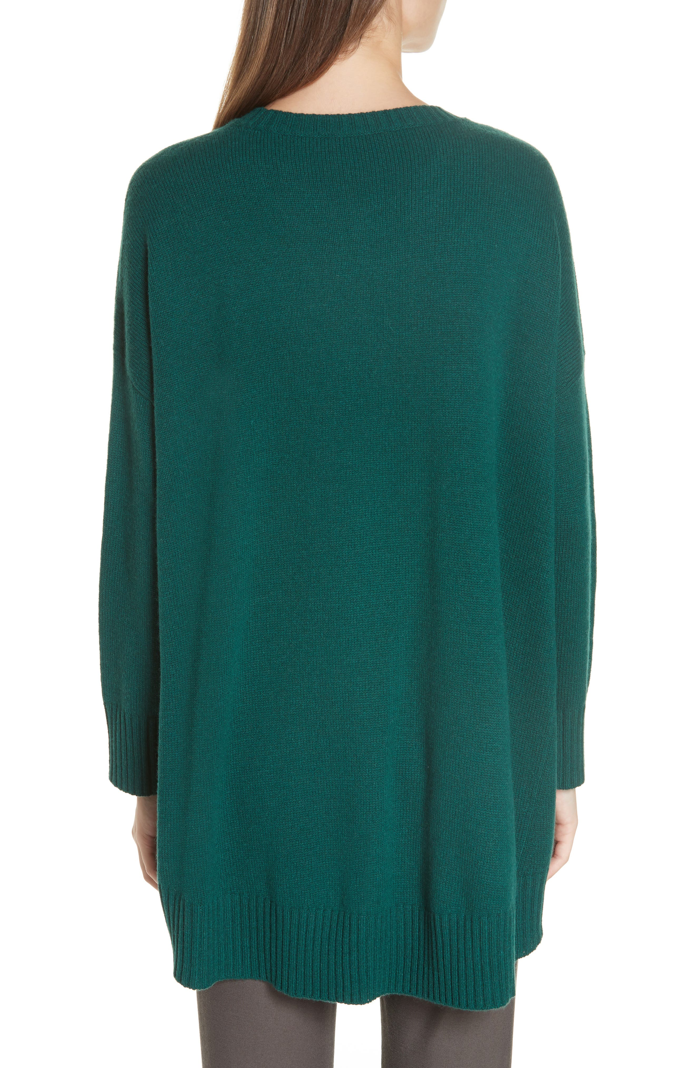 Cashmere & Wool Blend Oversize Sweater,                             Alternate thumbnail 2, color,                             PINE