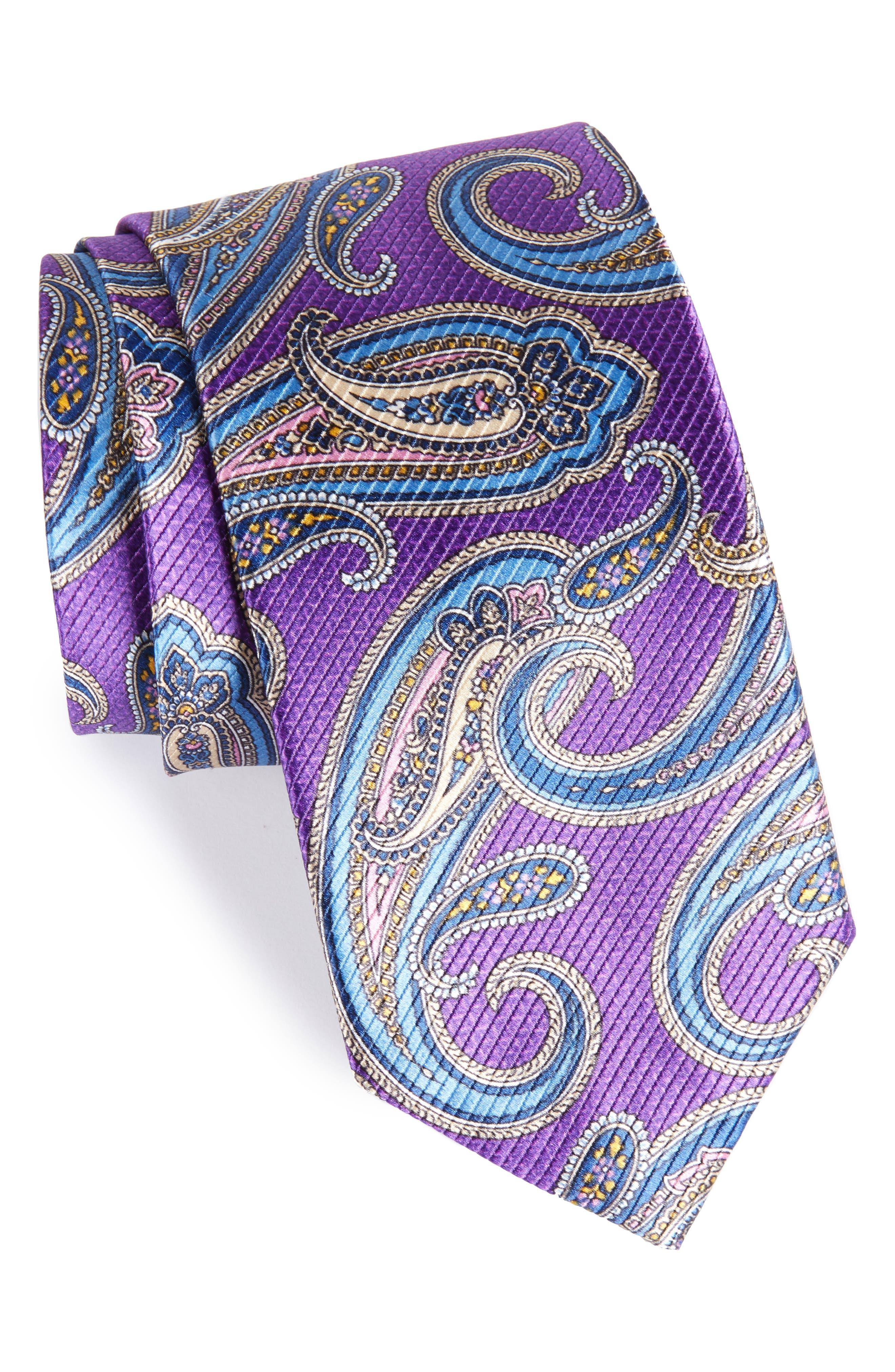 Paisley Silk Tie,                             Main thumbnail 4, color,